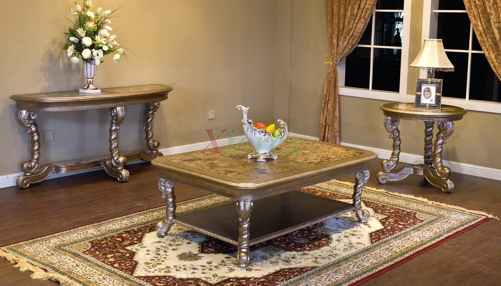 Alya rectangle coffee table set toronto for living room xiorex Living room coffee table sets