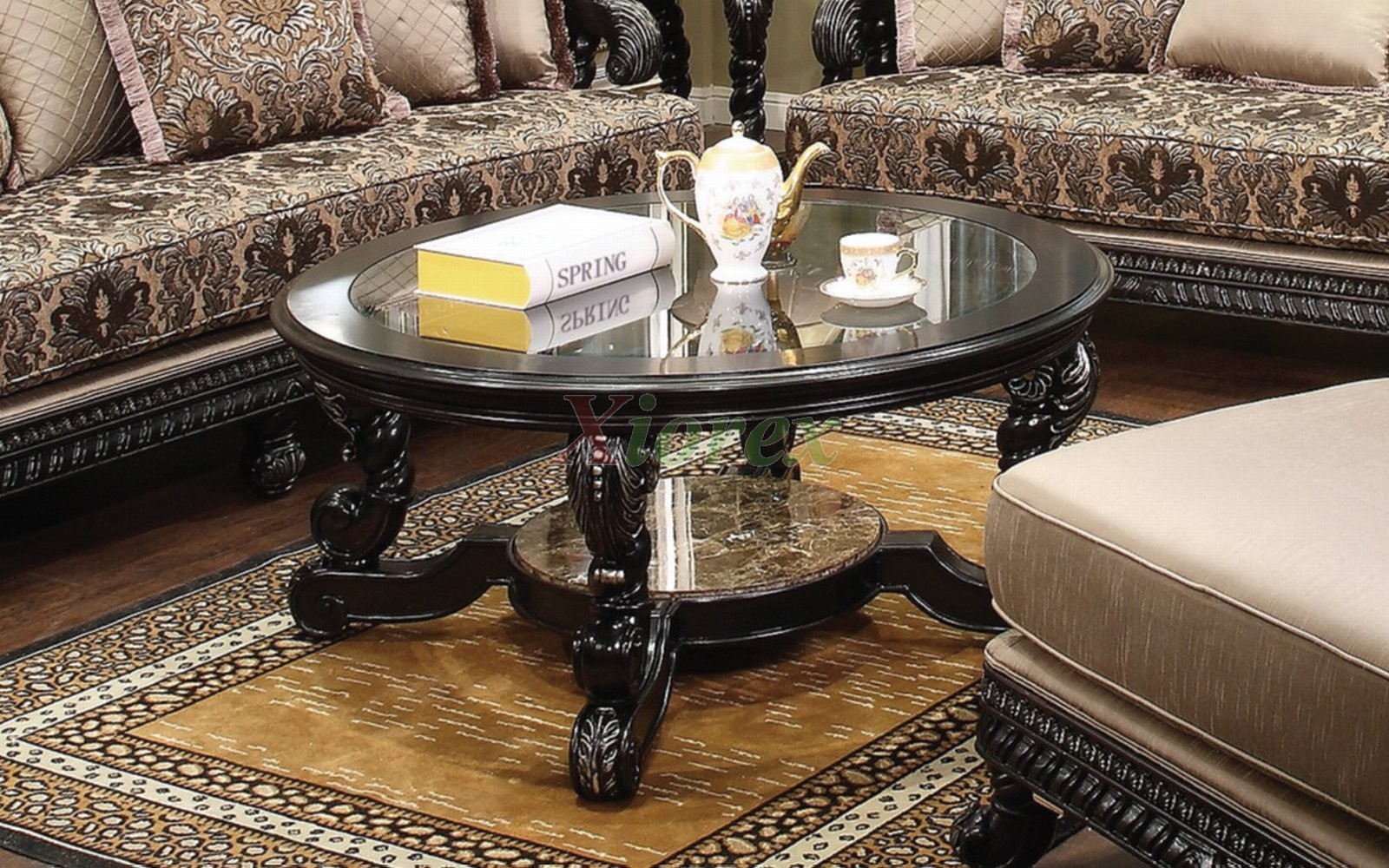Alya Round Coffee Table Toronto With Beveled Gl Top Xiorex