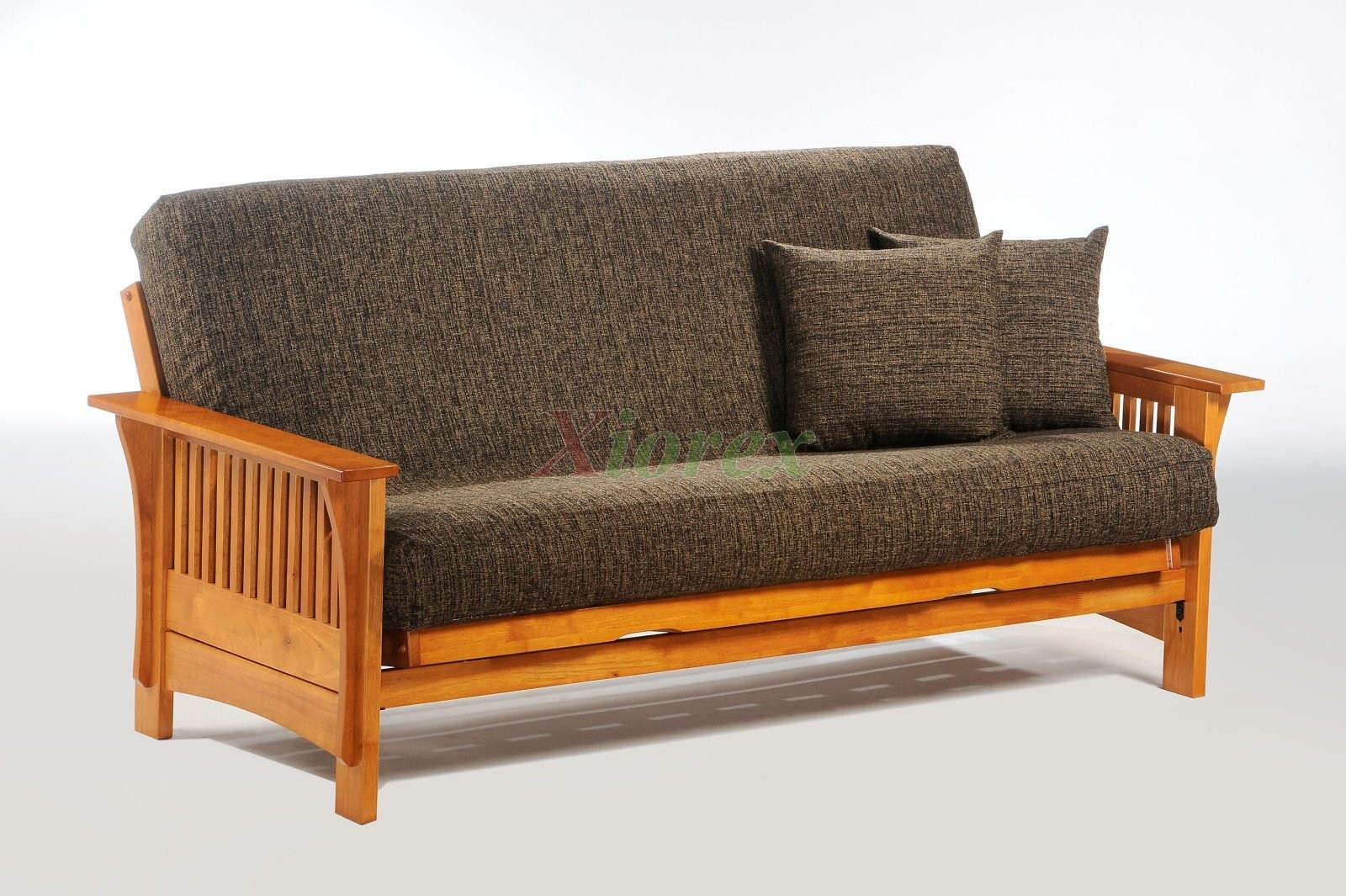 Autumn Futon By Night And Day In Hony Oak Finish | Xiorex Futons Online