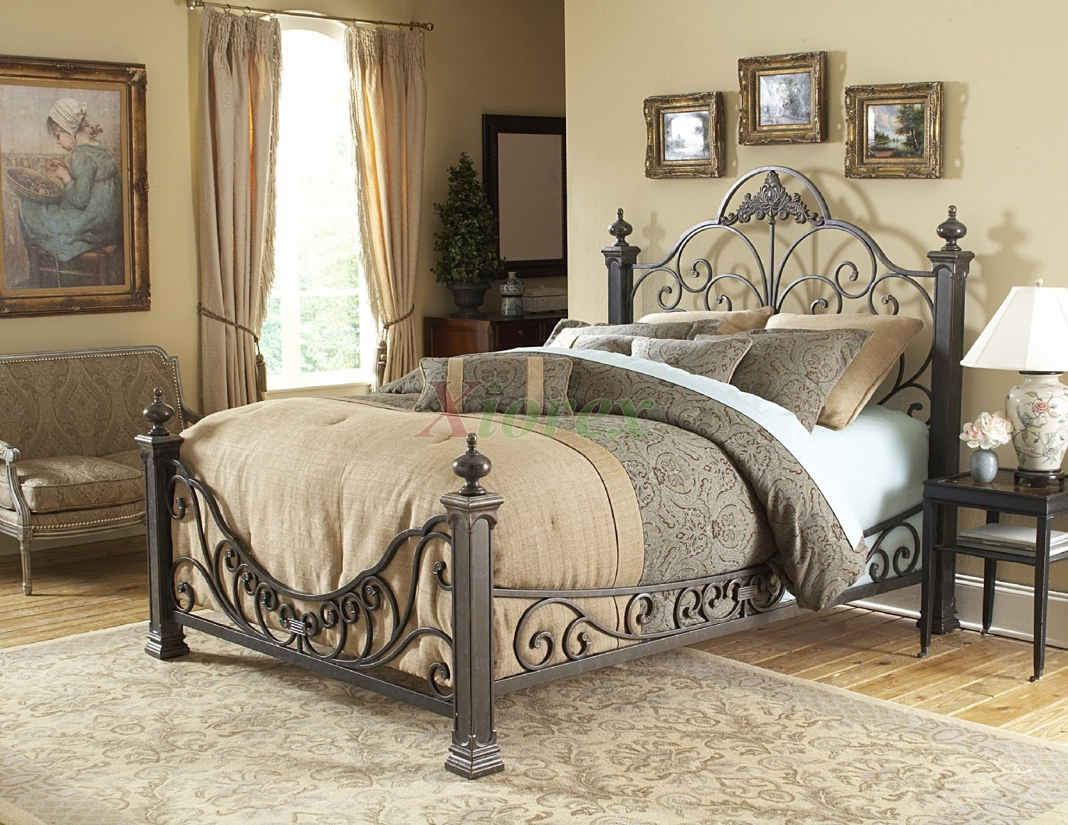 Fashion Bedroom Furniture Delectable Baroque Bed  Poster Bed In Gilded Slatefashion Bed Group  Xiorex Decorating Design