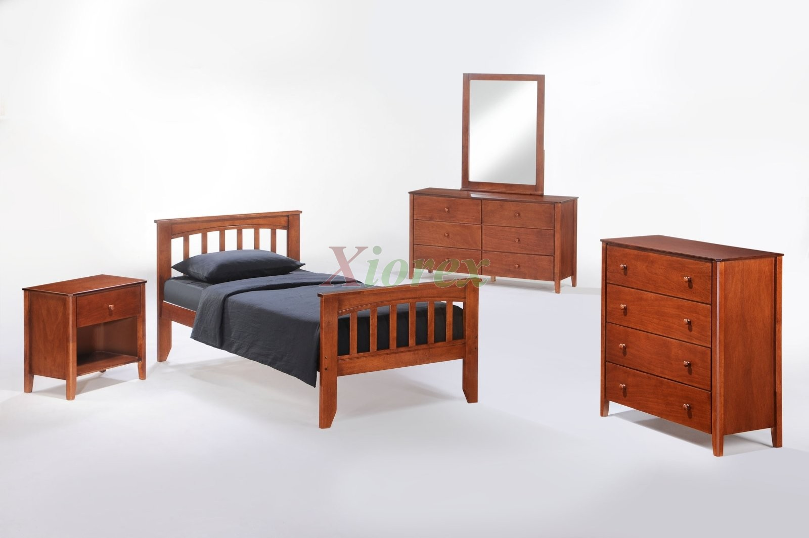 Dresser with mirror and chair - Bed Suite Sasparilla Bed Suite W Chest Dresser Mirror And Nightstand