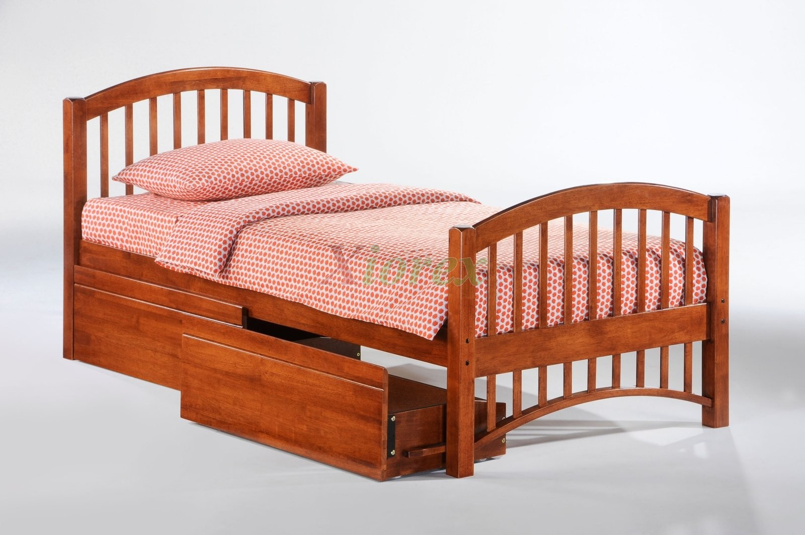 Bed furniture with drawers - Bedroom Furniture N D Molasses Twin Bed In Cherry W Drawers Xiorex