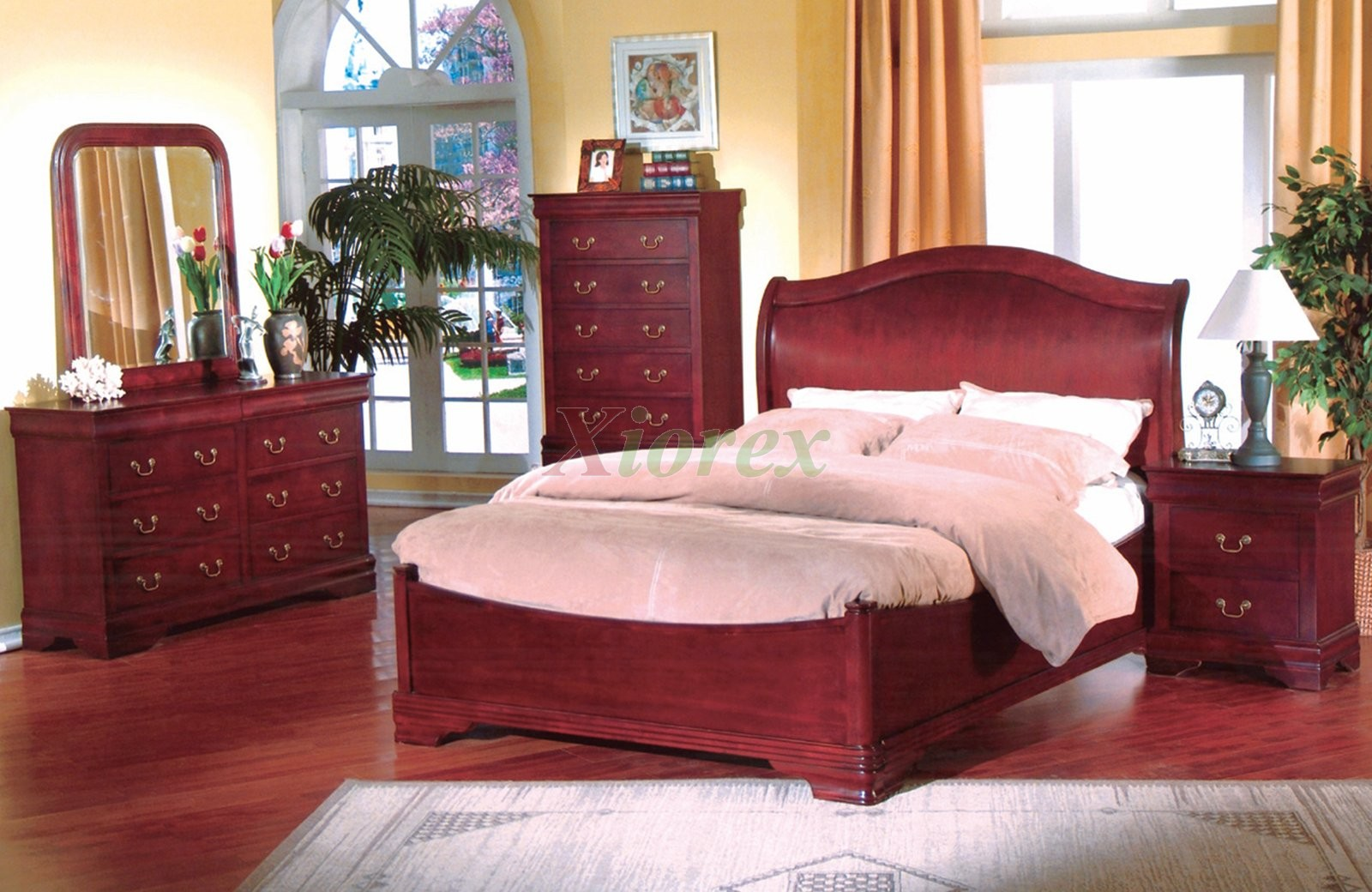 Bedroom Furniture Set with Curved Headboard Beds 169 | Xiorex