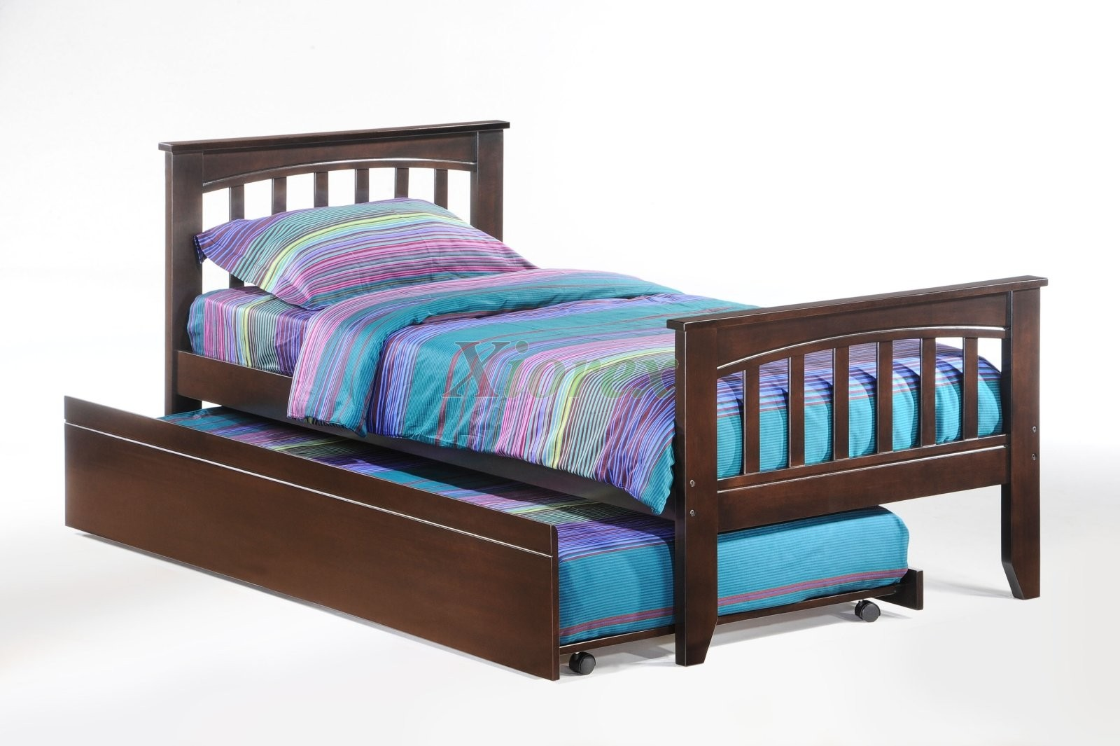 Bedroom Set   Sasparilla Twin Bed In Dark Chocolate W Trundle | Xiorex