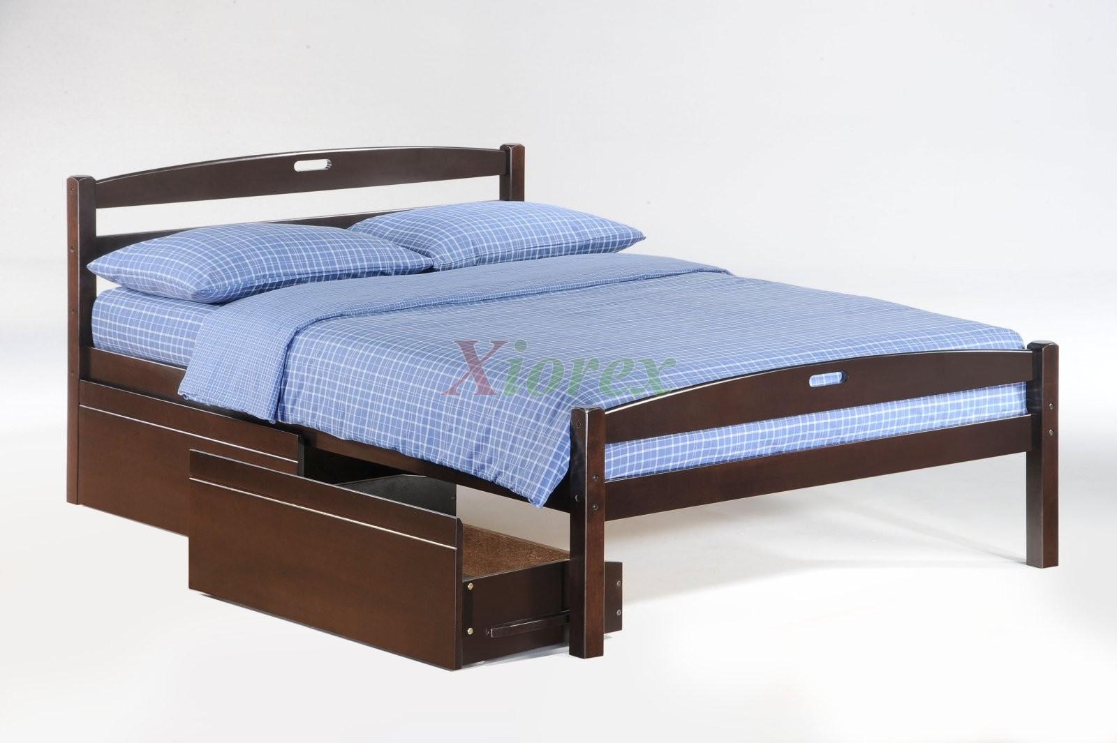 bedroom set sesame full bed in dark chocolate w drawers xiorex