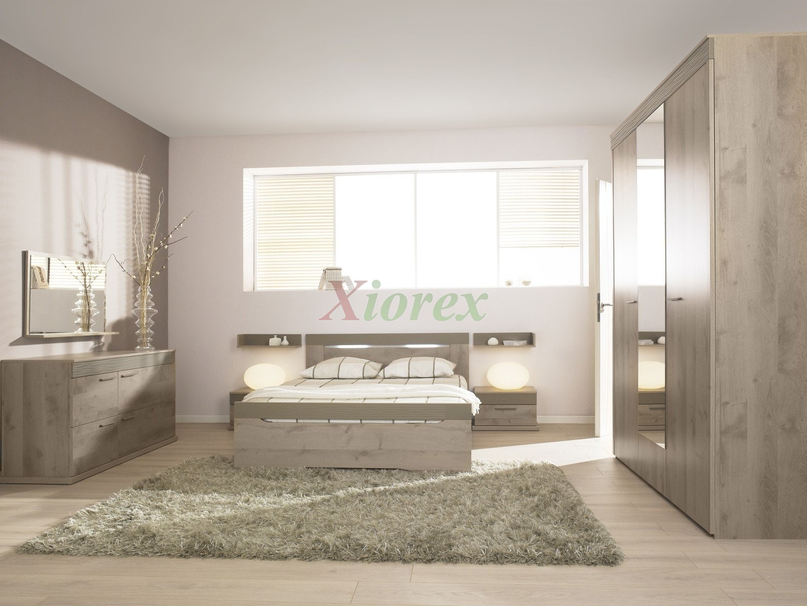 Taupe Bedroom Master Bed Perla Gami Master Bed Sets Oak Plum Effect Xiorex