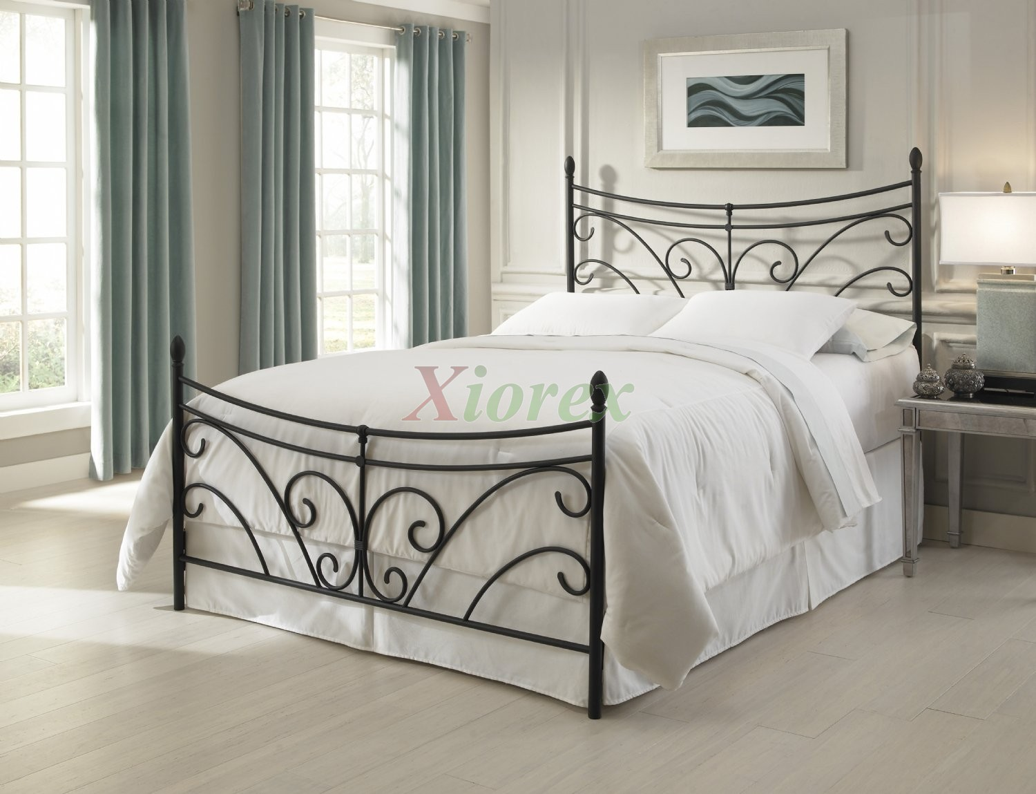 bergen bed metal bed in matte black by fashion bed group xiorex - Fashion Bedroom Furniture