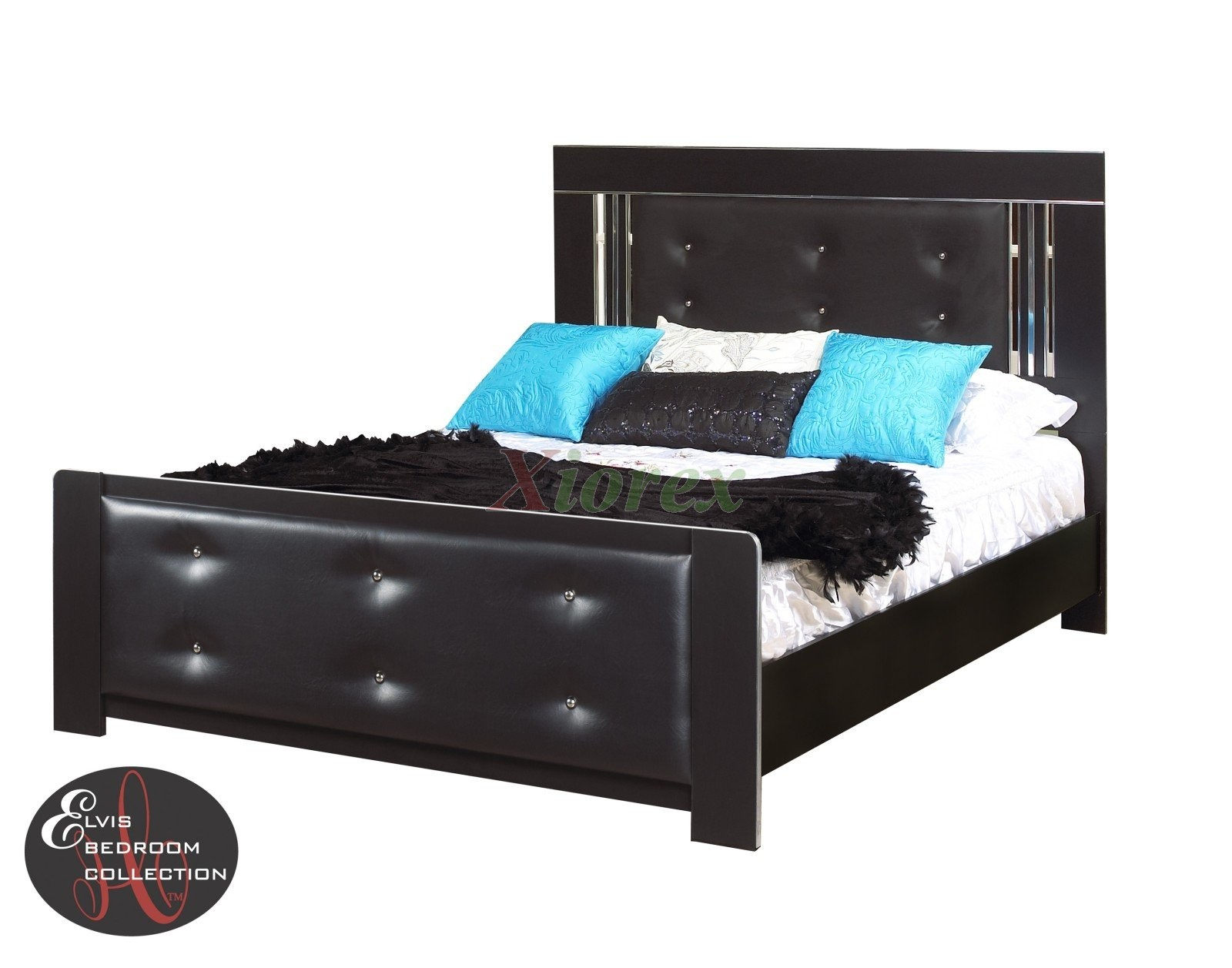 black bed frame life line elvis bed with tufted headboard xiorex