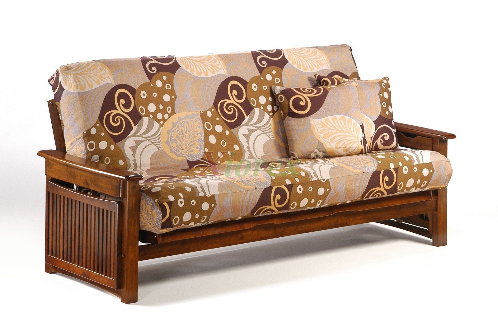 Black Walnut Raindrop Futon Futons By Night And Day Xiorex