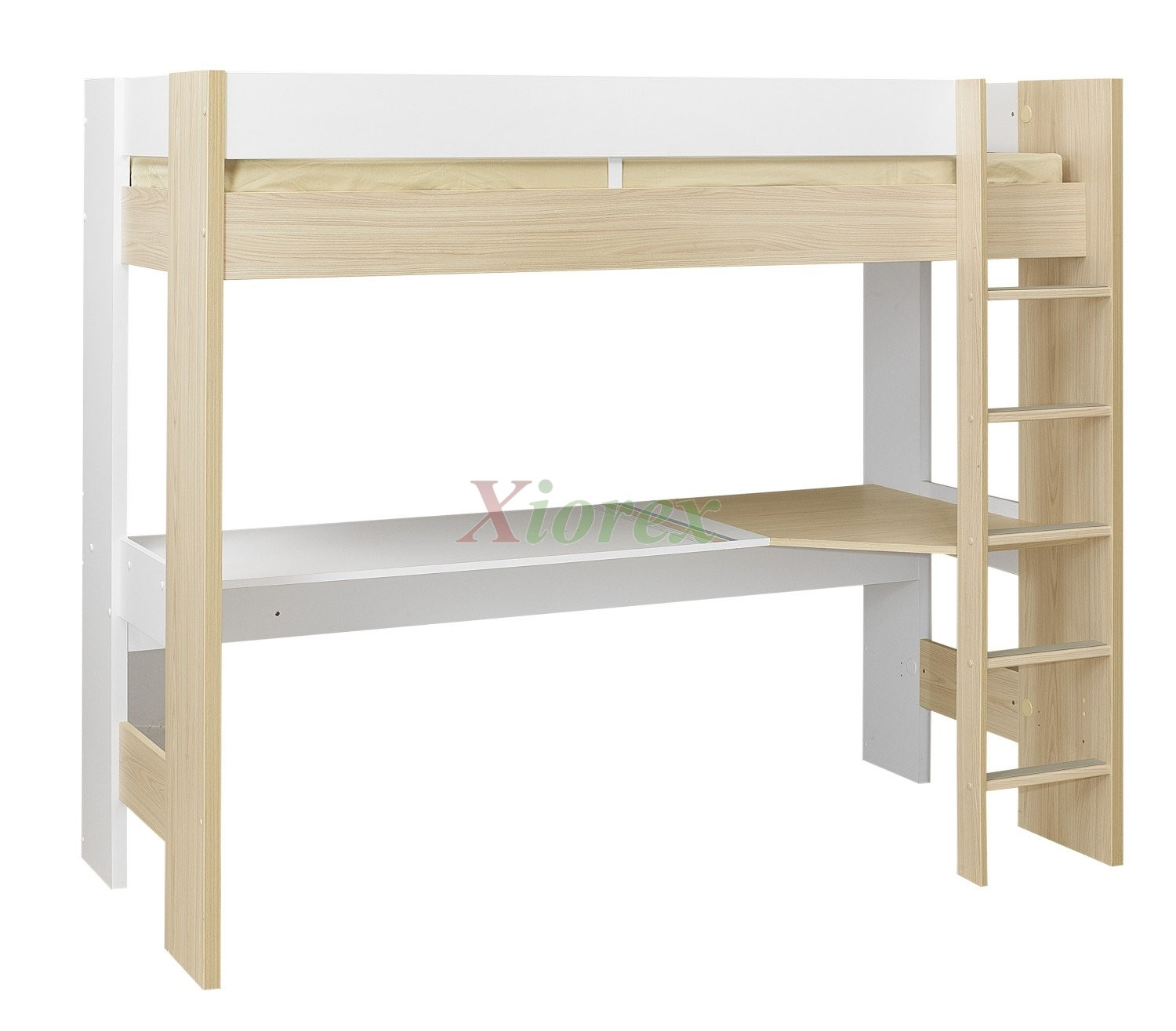 Single bed desk interior design ideas for Single bunk bed