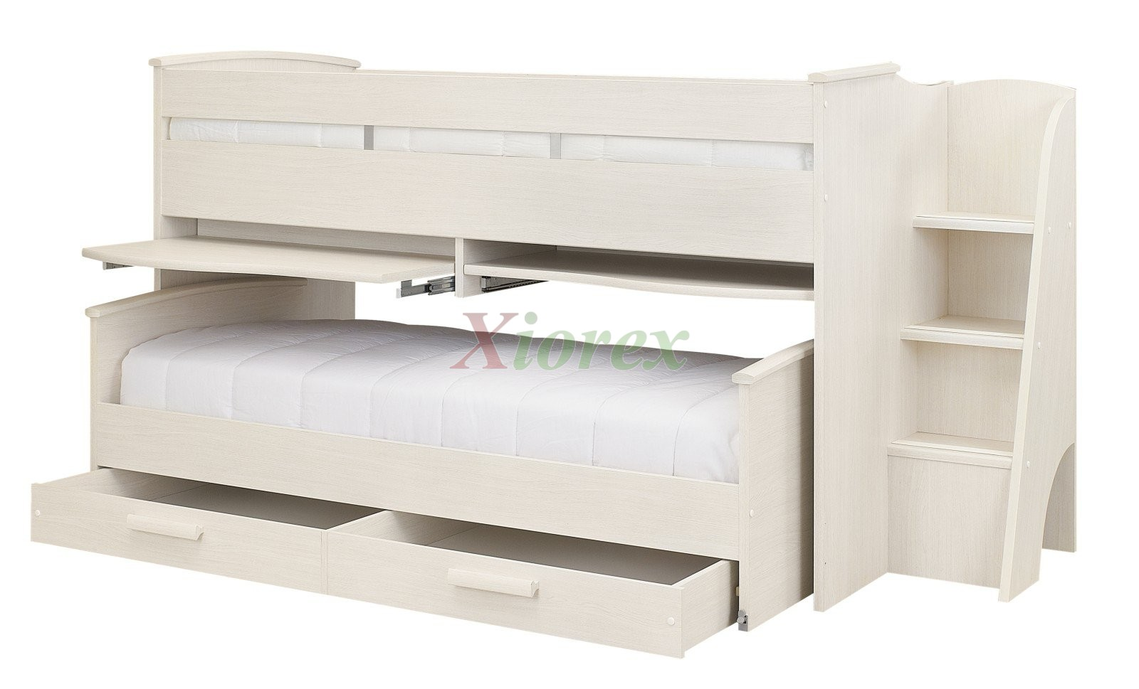 Cabin Bed Gami Montana Cabin Bed W Slide Out Bed In White