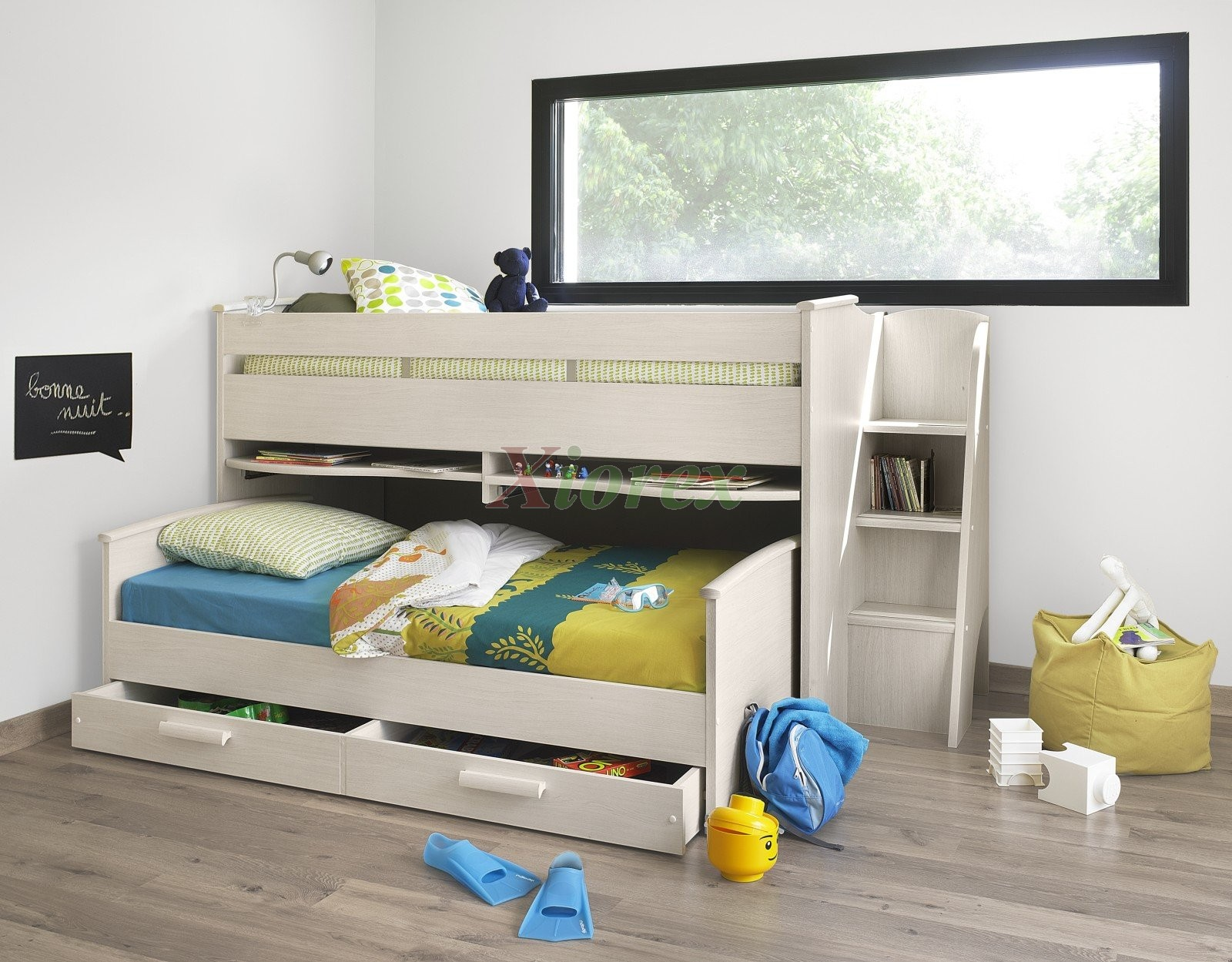cabin bed   xiorex     cabin bed gami montana cabin bed w slide out bed in white ash  u0026 alder  rh   xiorex