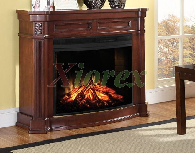 Carling Mantel in Burnished Walnut - Electric Fireplace | Grrenway