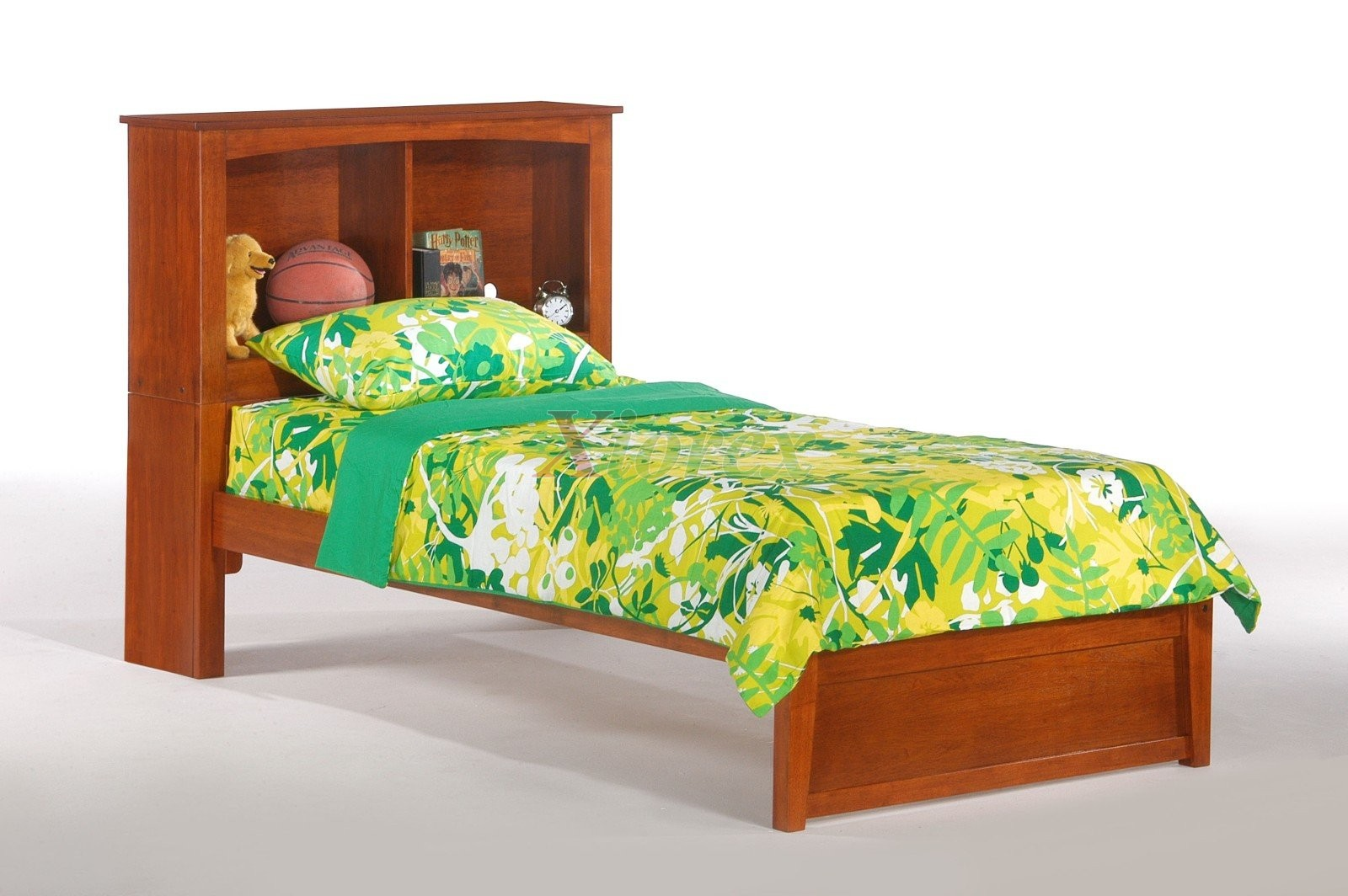 bookcase headboard chocolate headboards south shore size in kids twin summertime bookcases spark white pure bed p beds