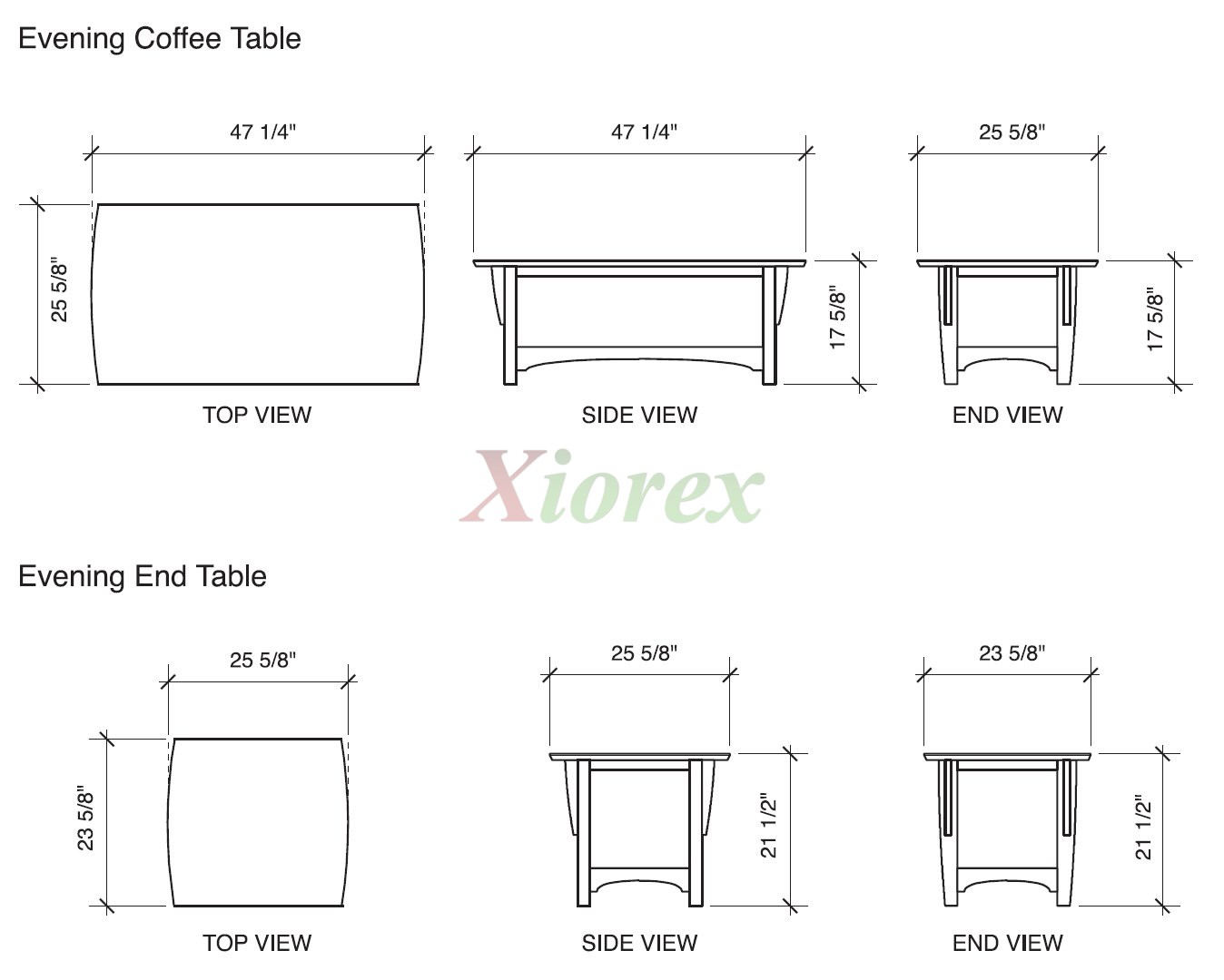Night and Day Sunrise Futon Chair Loveseat Full Queen  : coffeetableandendtabledimensionnightanddaypremiumcollection from www.xiorex.com size 1348 x 1080 jpeg 105kB