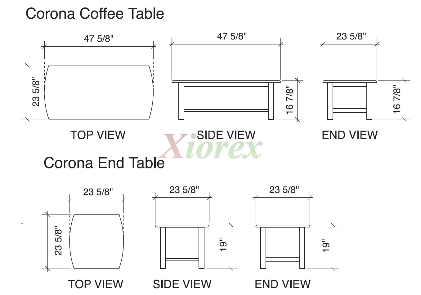 corona coffee table and end table dimension night day standard futons night and day vancouver futon wood futon frame lattice arms   xiorex  rh   xiorex