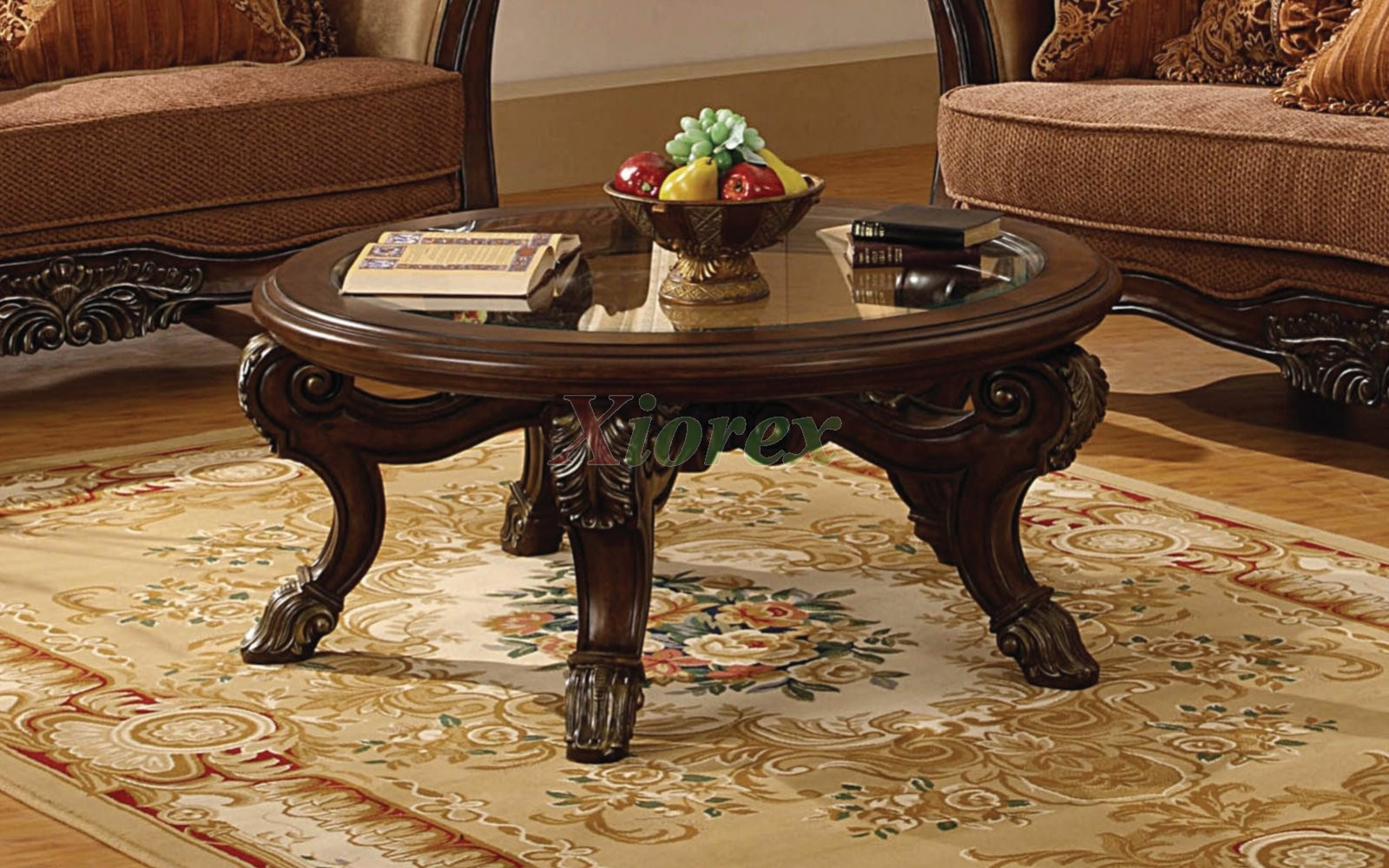 Corvi Dark Brown Round Coffee Table Mississauga Xiorex