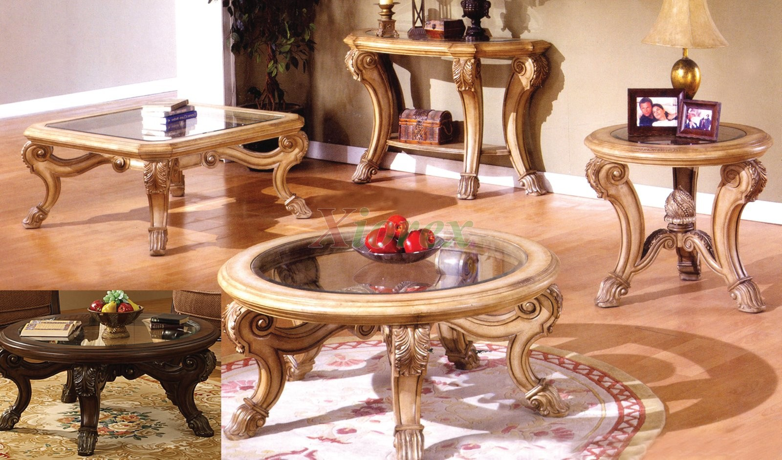 Corvi Glass Top Coffee Table Sets Mississauga with Saber Legs | Xiorex ... : coffee tables sets - pezcame.com