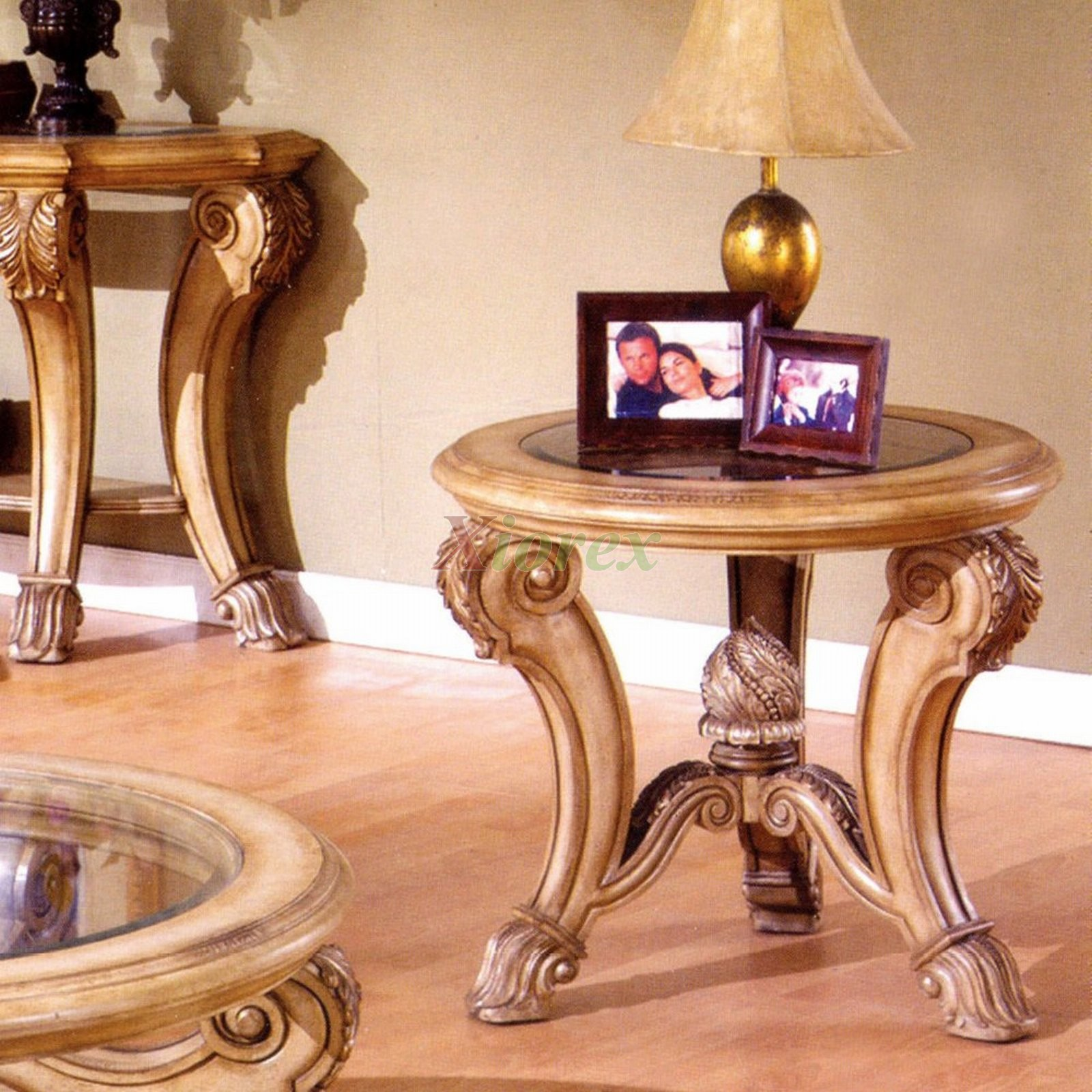 Corvi Glass Top Round End Tables Mississauga