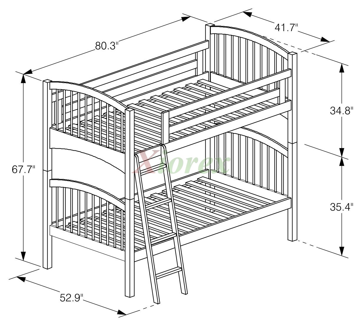 Twin Bunk Bed Night And Day Elderberry Twin Bunk Twin Bunk Split Beds