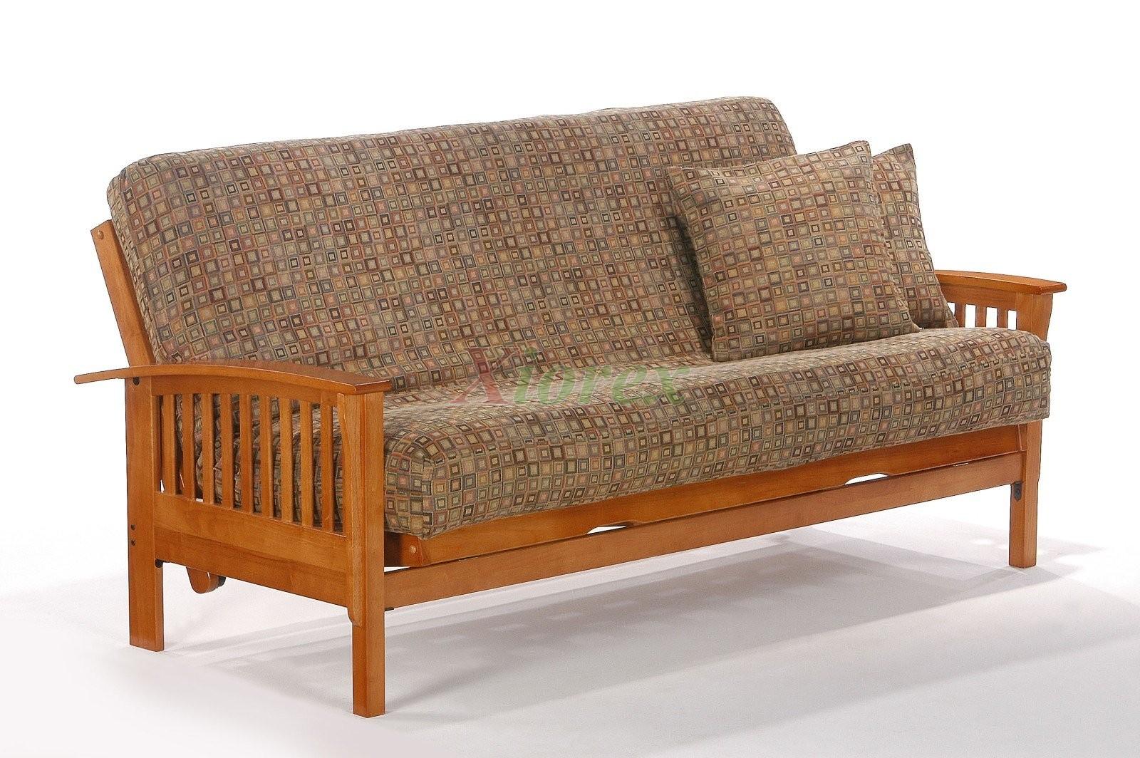 Futon Beds Honey Oak Winchester Futon By Night And Day | Xiorex