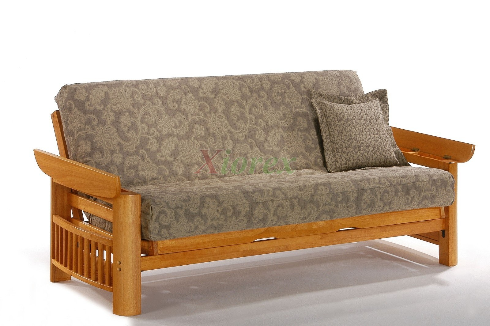 ... Futon Sofabed Night And Day Portofino Futon Honey Oak | Xiorex ...