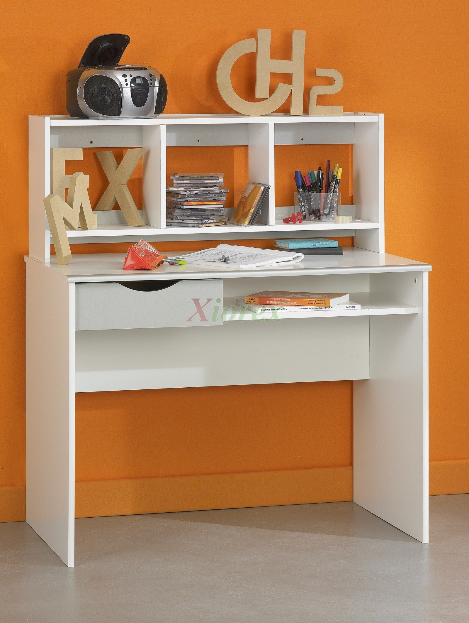 Kids desk gami moov white student desk for kids by gautier xiorex gami moov student desk with desk top shelf by gautier altavistaventures
