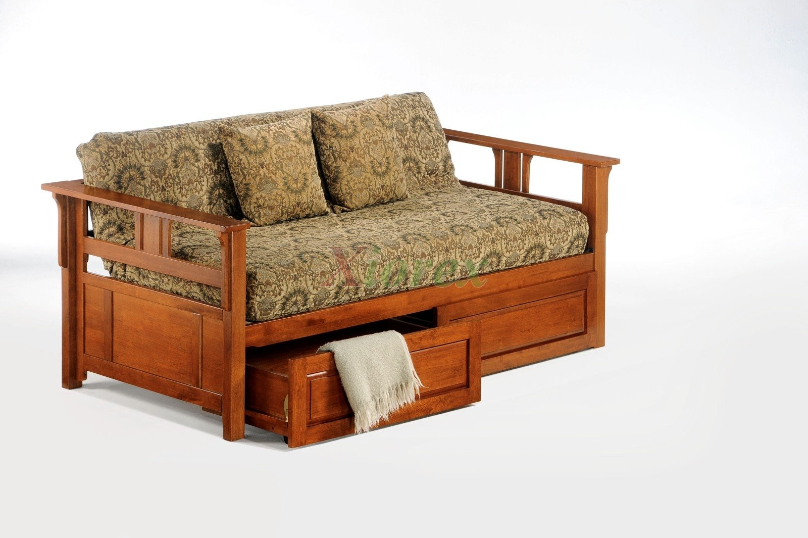Night and day teddy roosevelt daybed with trundle guest Daybeds with storage