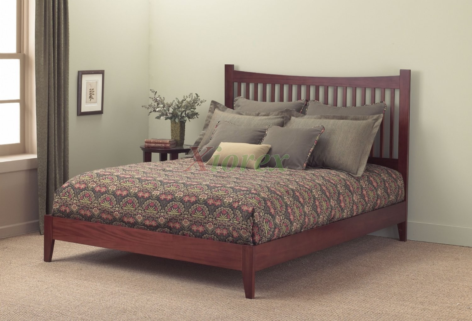 Jakarta bed contemporary bed in mahogany black for Contemporary beds