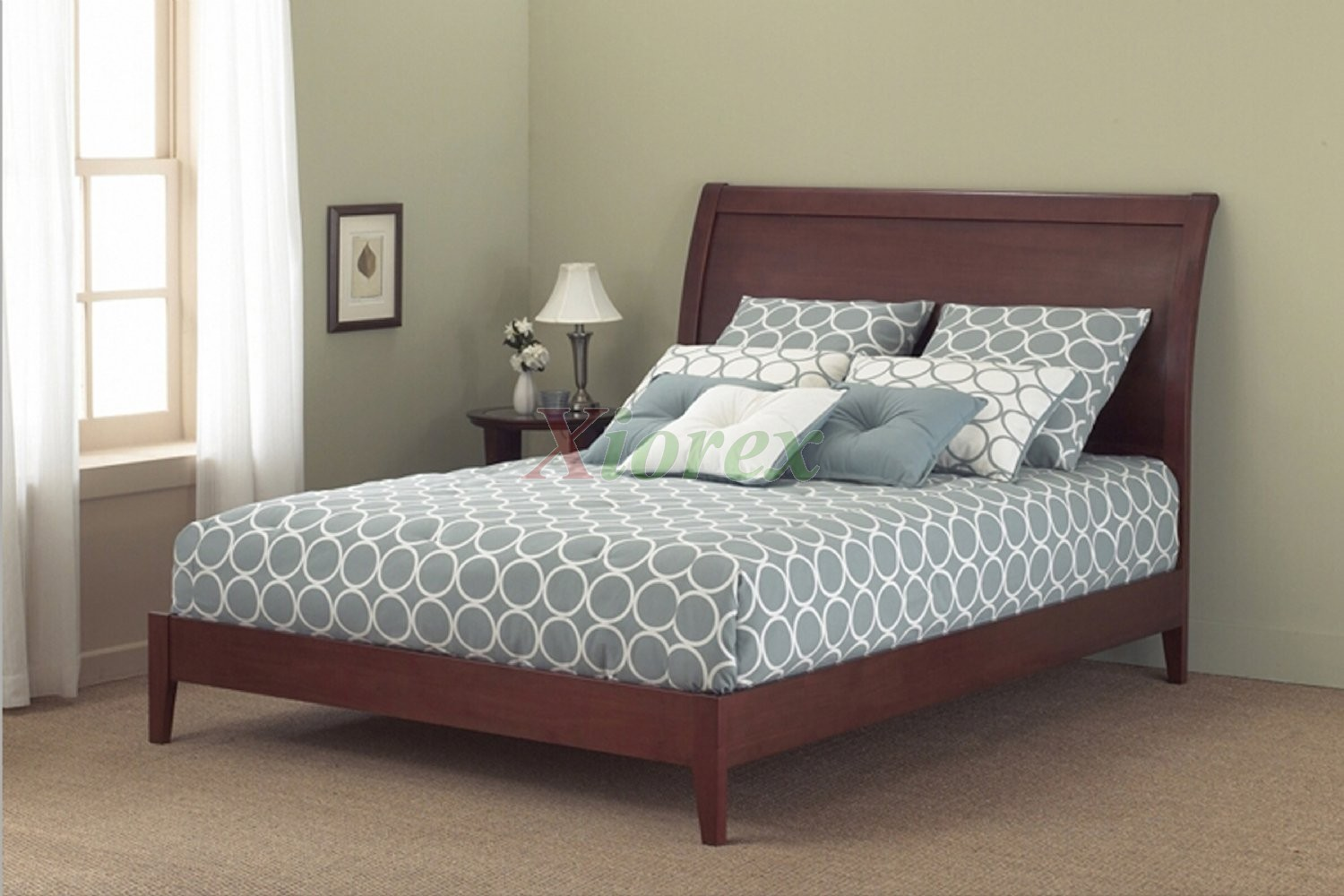 Java platform bed contemporary bed in mahogany black finish xiorex - Benefits of contemporary queen bed ...