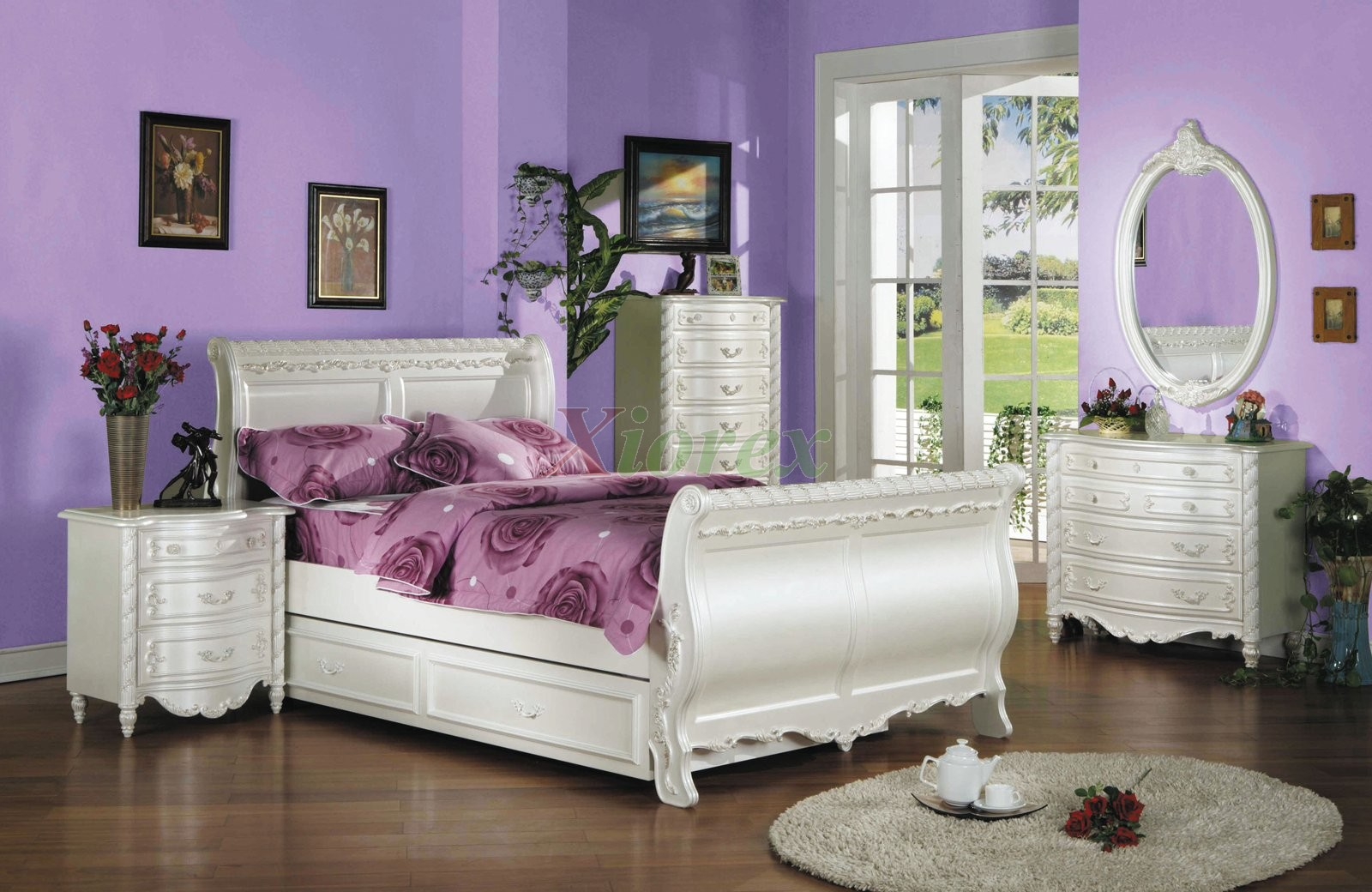 kids sleigh bedroom furniture set