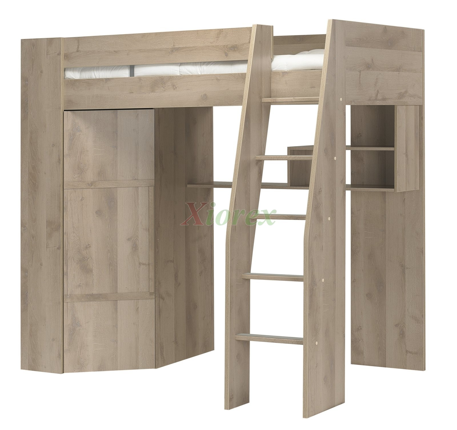 Bunk beds with desk and closet - Loft Bed With Closet Timer Loft Bed By Gautier Furniture Xiorex