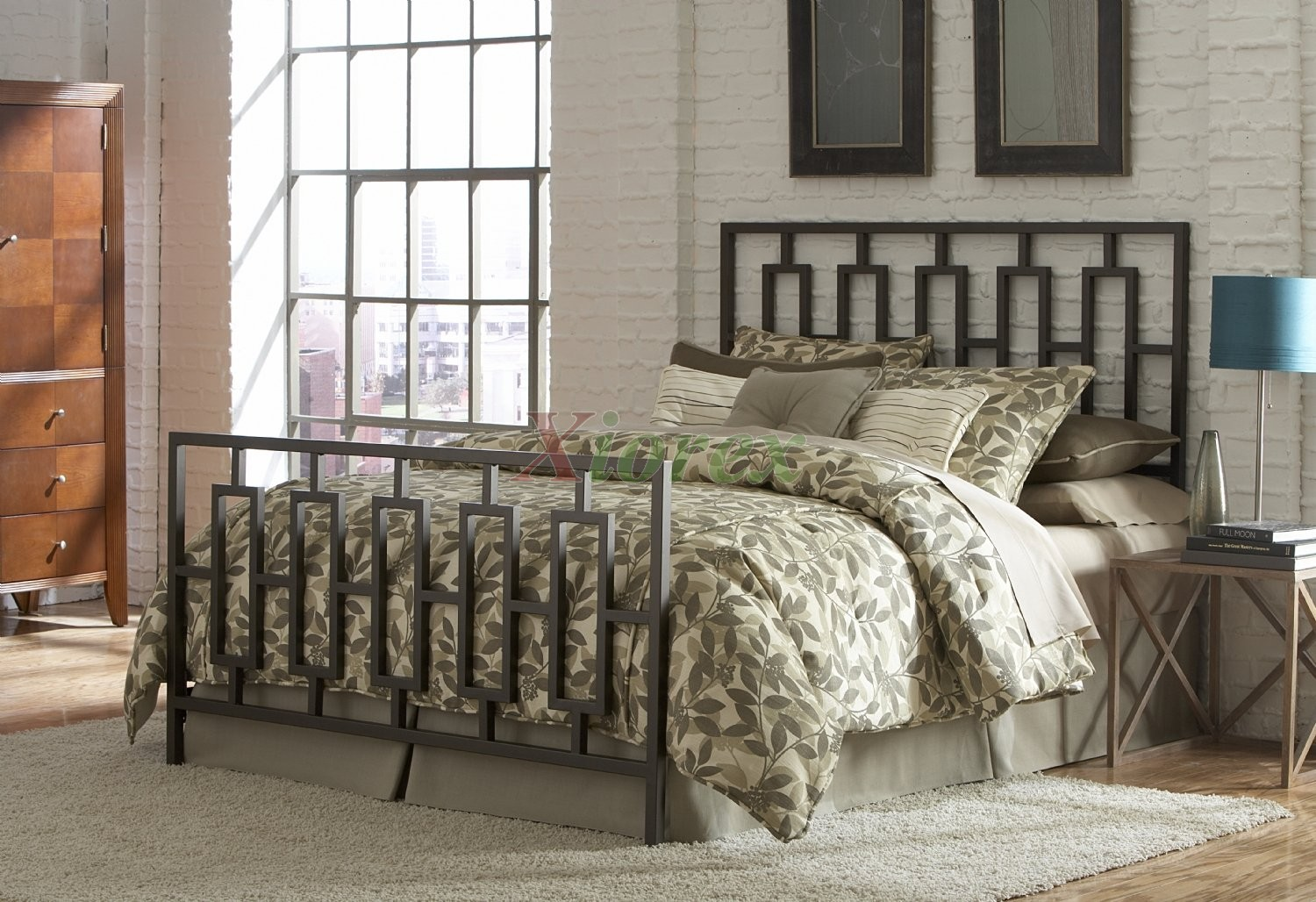 miami bed contemporary w coffee finish by fashion bed group xiorex - Fashion Bedroom Furniture