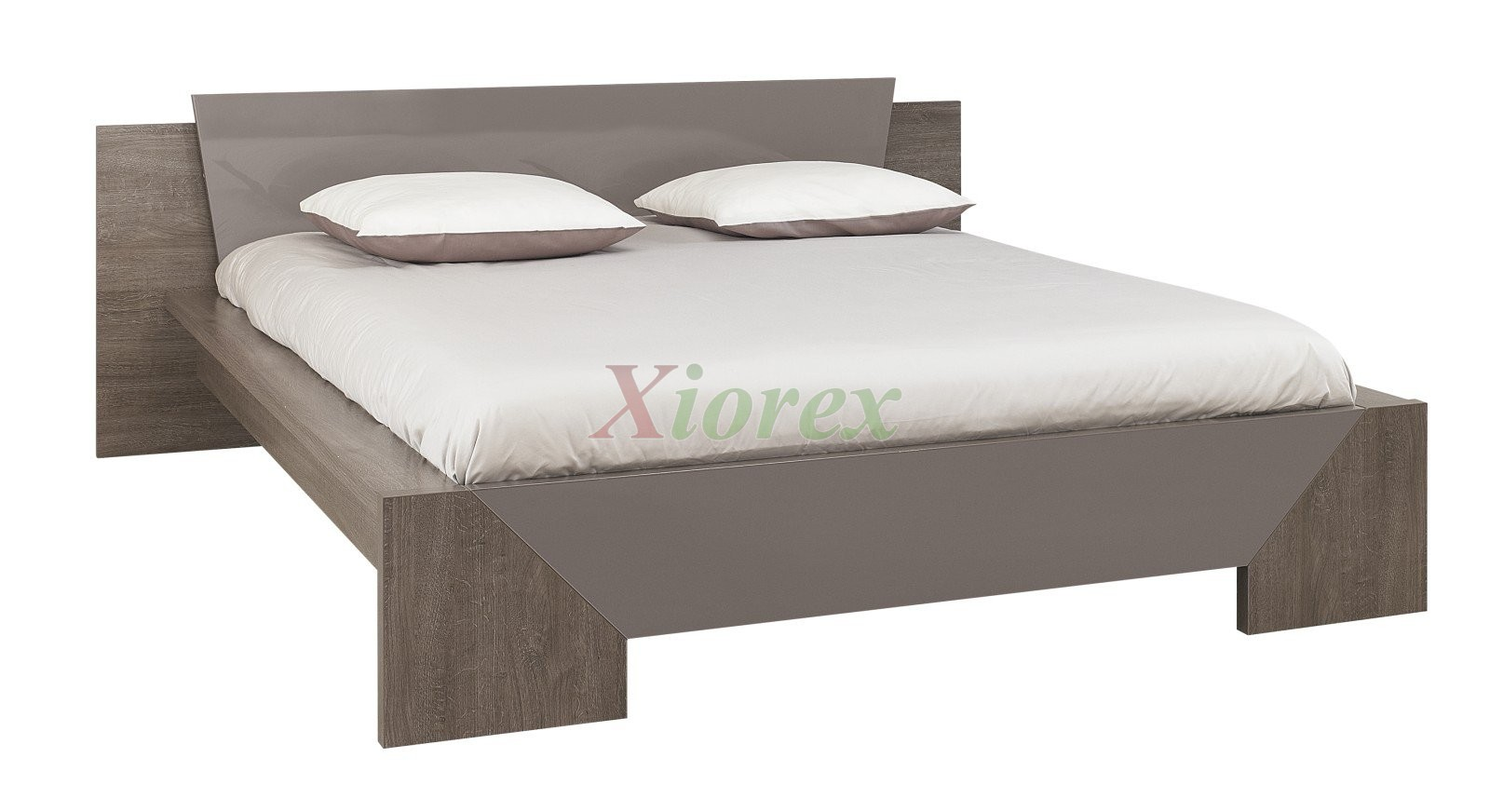 Modern Bed Gami Trapeze Bed Set Modern Bedroom Set by ...