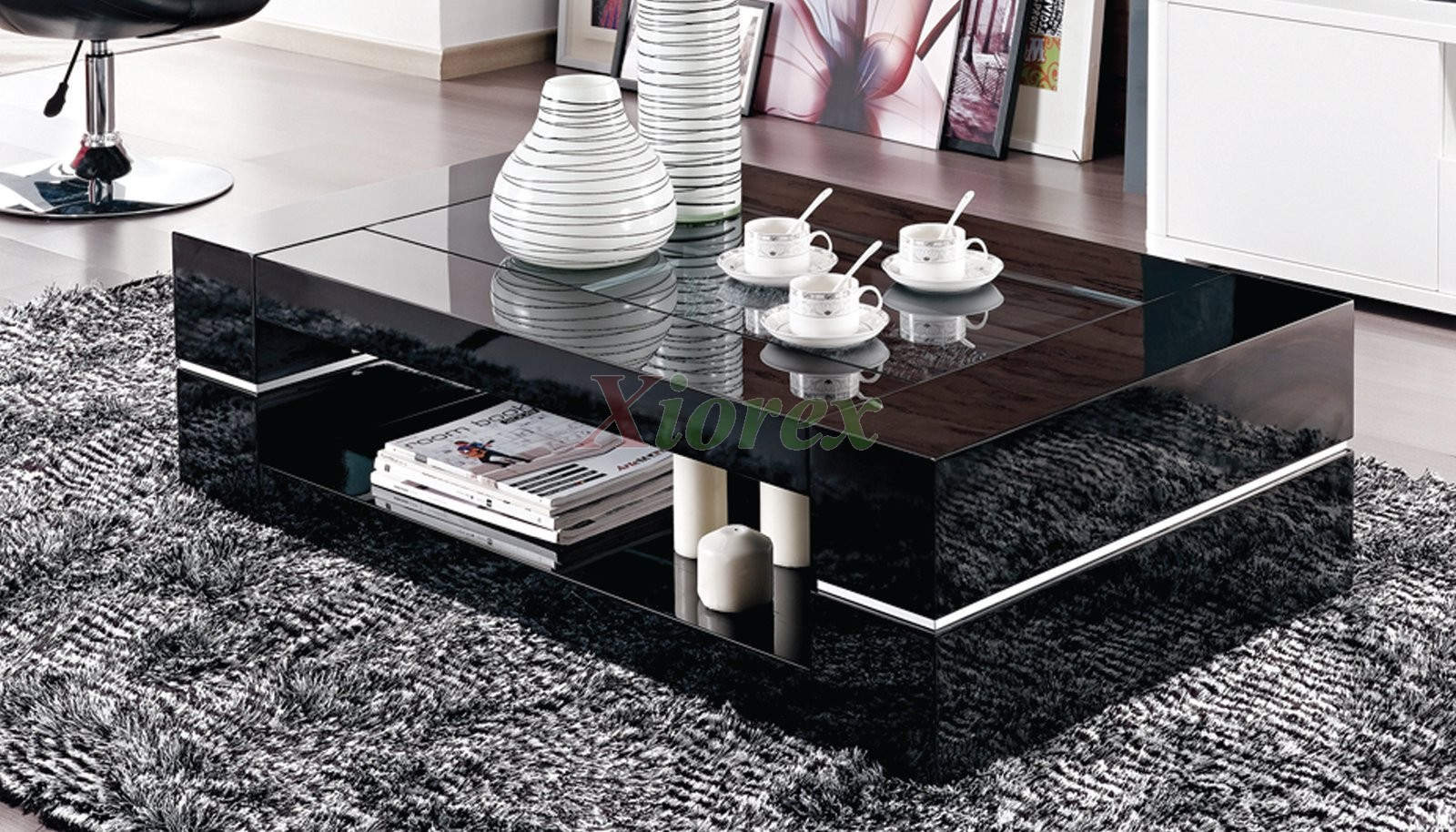 modern coffee table canada  xiorex - this high gloss modern coffee table canada features a fantastic design withshiny black finish that will fit into virtually any design style of yourliving