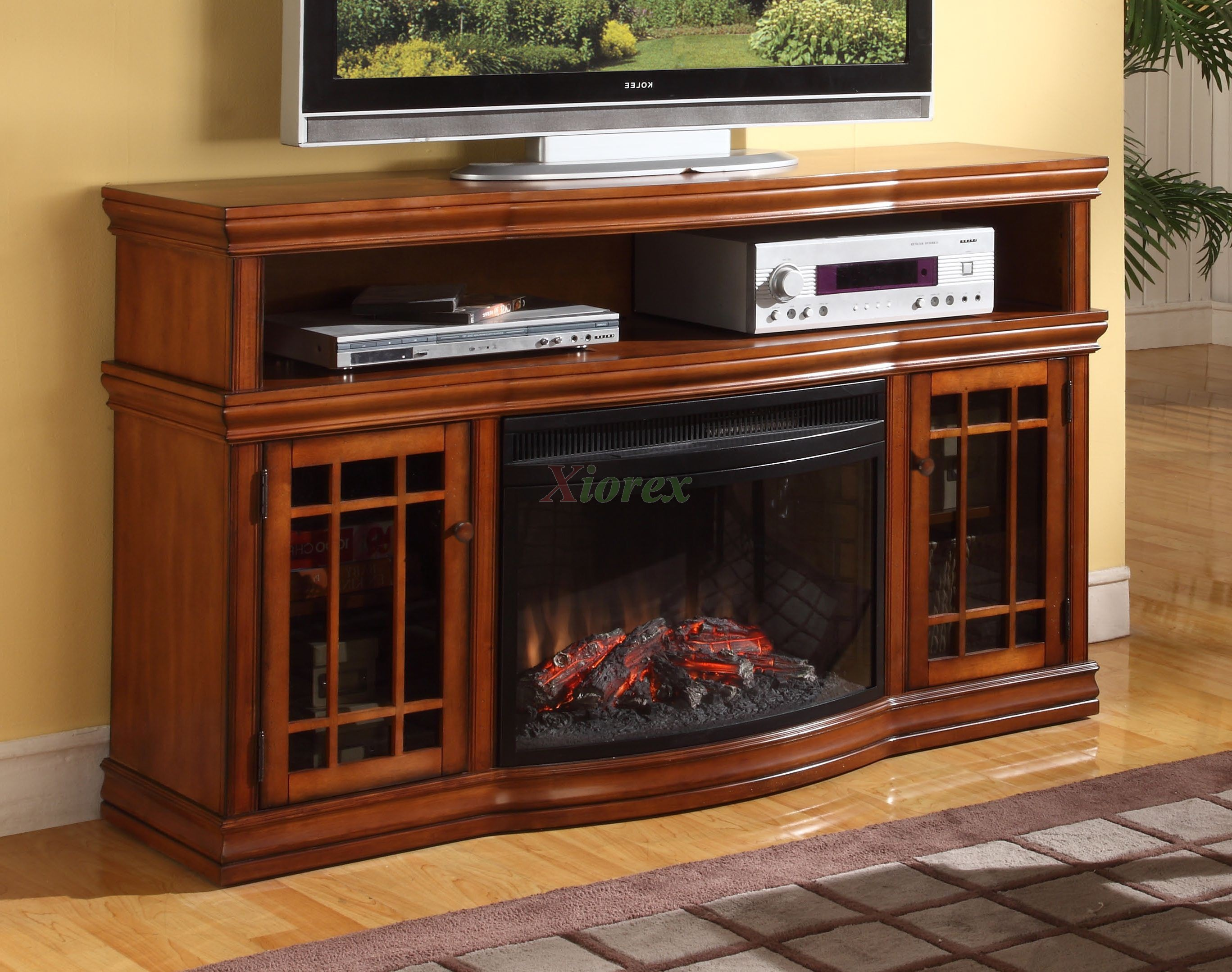 Dwyer Tv Fireplace By Greenway In Burnished Pecan Espresso Xiorex