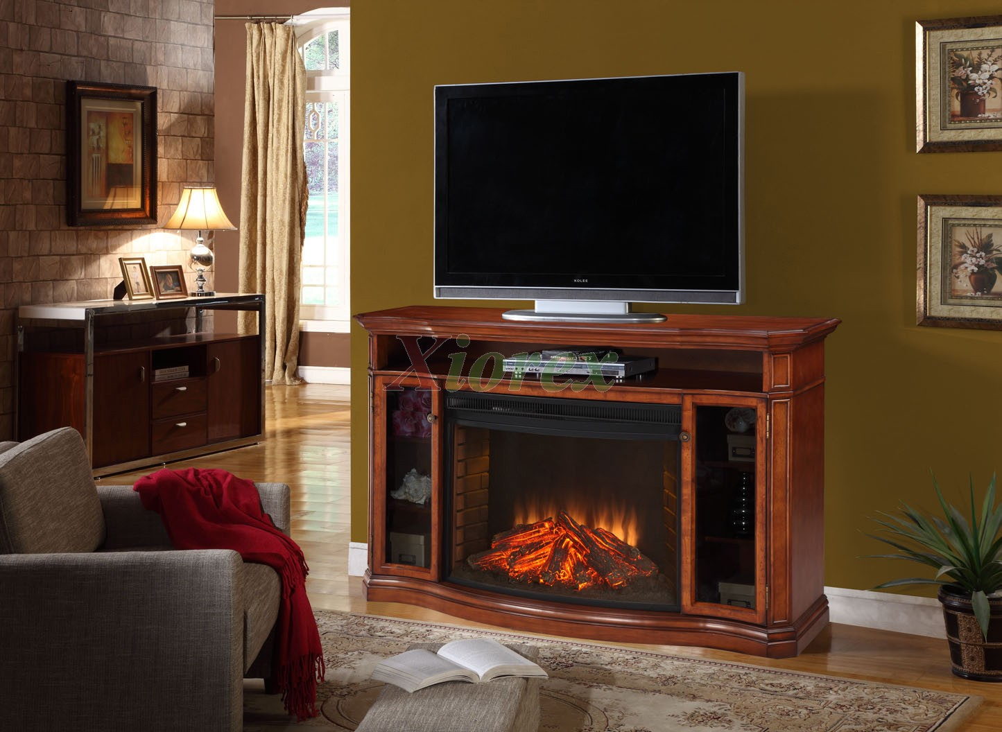 espresso with garden stand inch product today free shipping fireplace overstock cabinet home tv