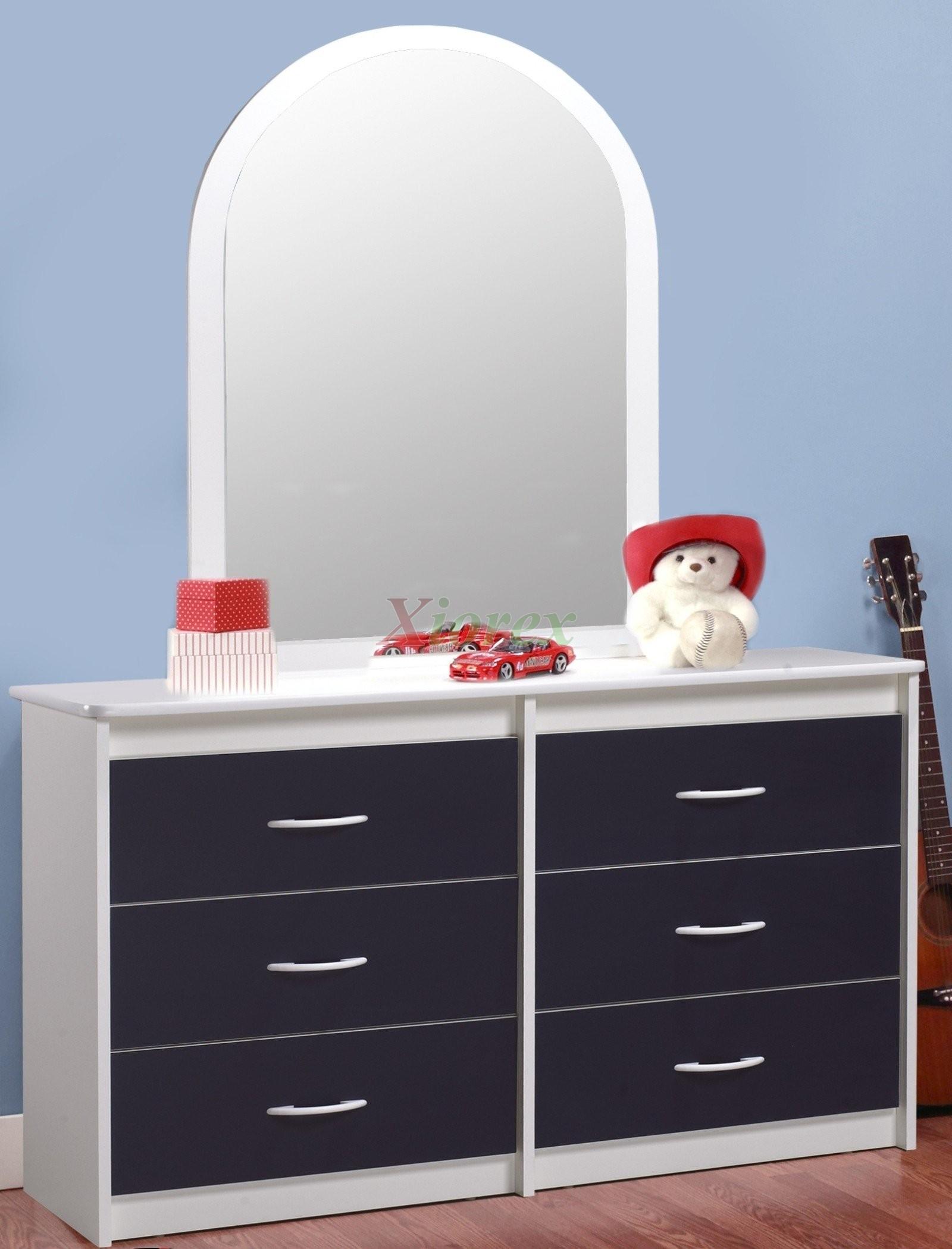Navy Blue White Dresser Life Line Tango W Mirror Xiorex