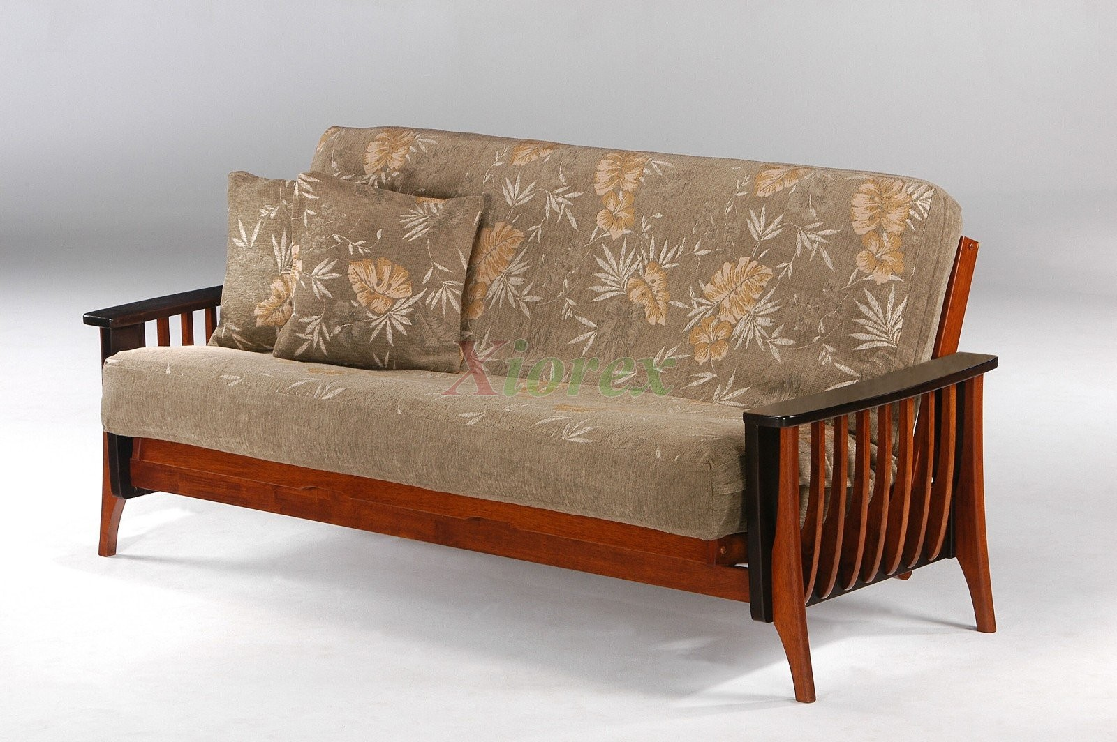 Night and day aurora futon sofa bed cherry dark chocolate for Sofa bed futon