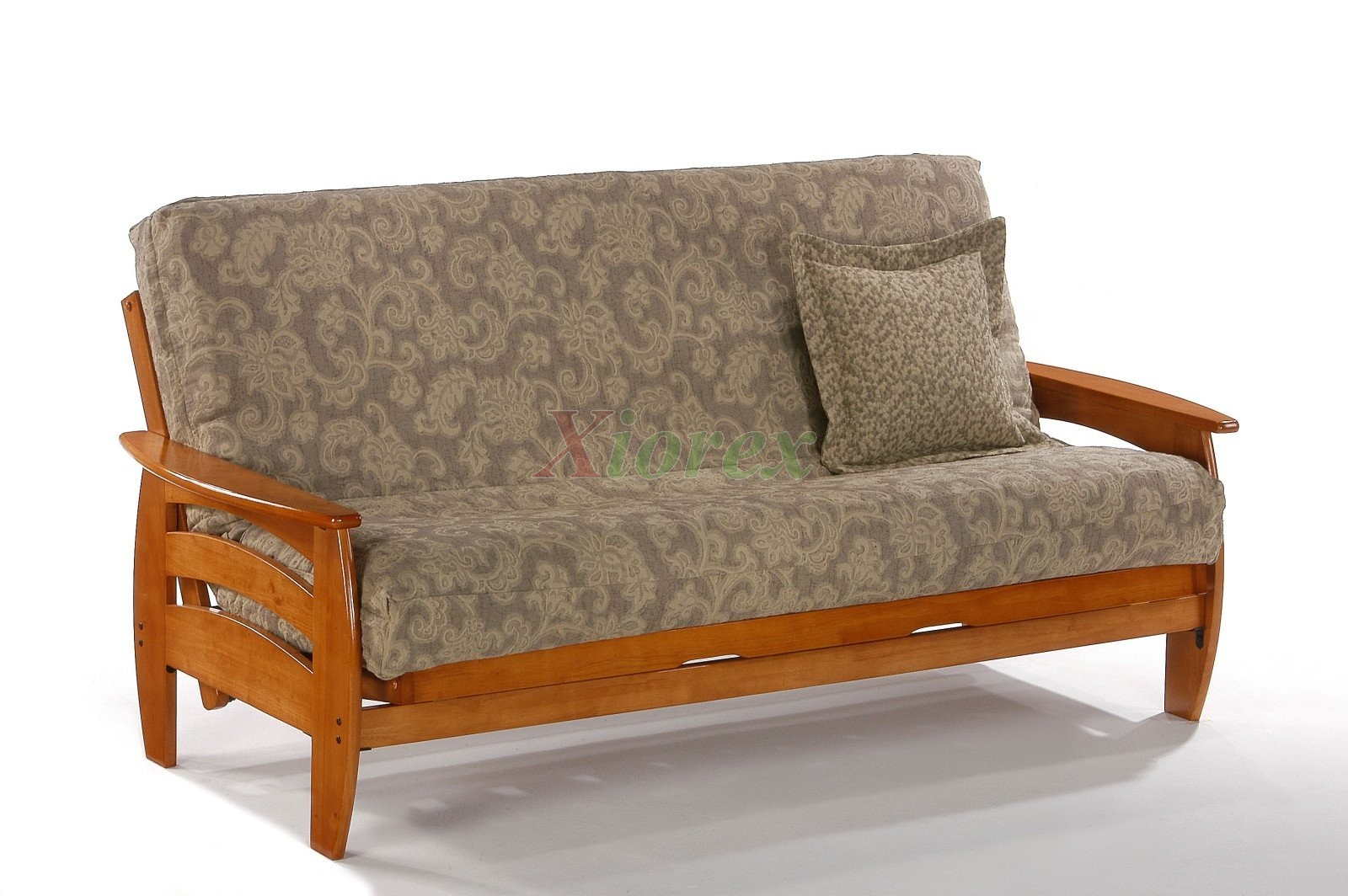 Night And Day Corona Futon Couch In Honey Oak Xiorex