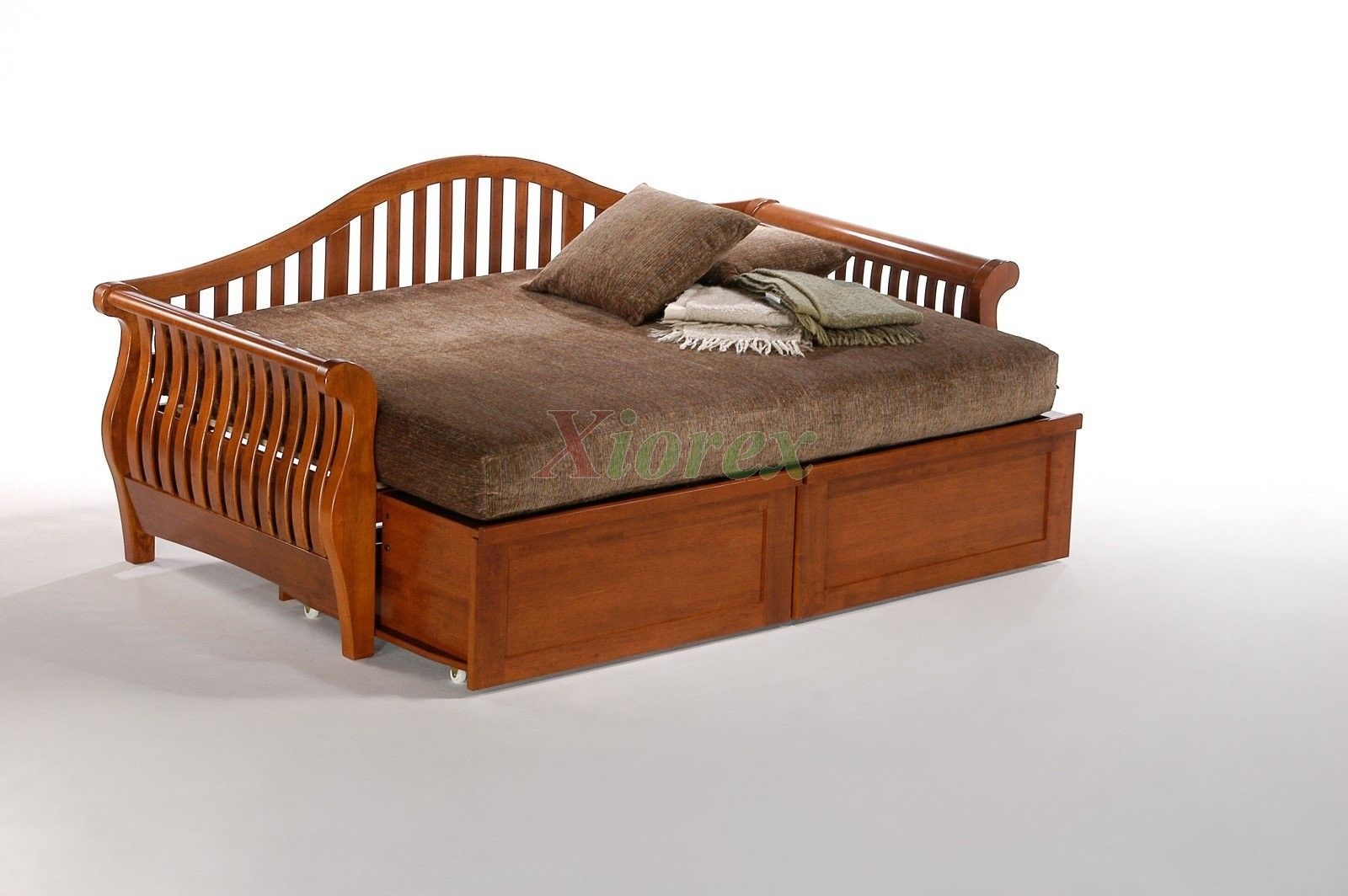 night and day nightfall daybed w extension drawers in cherry xiorex full size