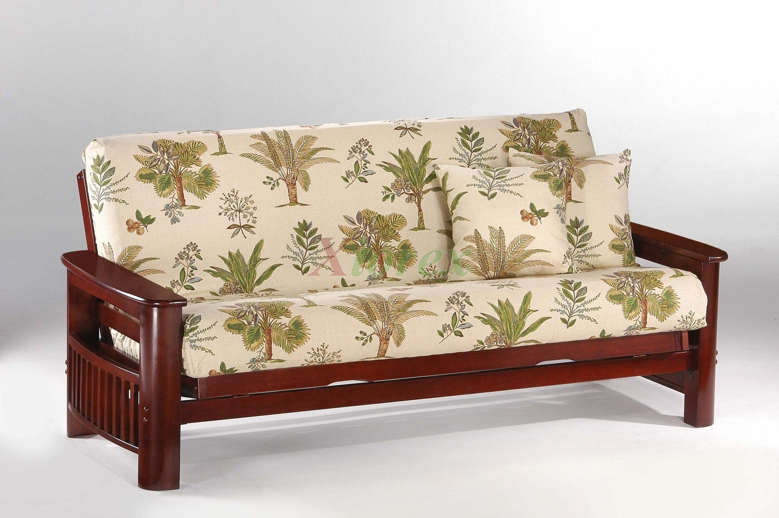 night and day portofino futon sofabed in rosewood   xiorex night and day portofino futon sofabed honey oak natural rosewood teak  rh   xiorex