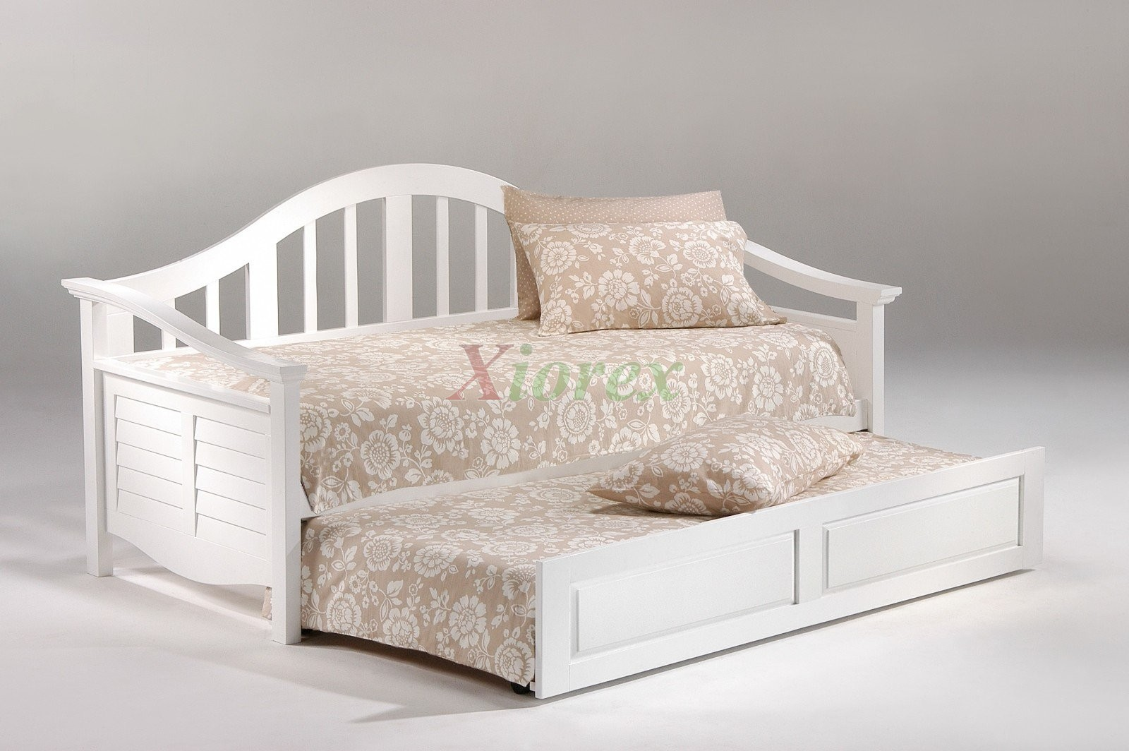 Seagull daybed twin size white day bed with trundle bed for Beds with trundle