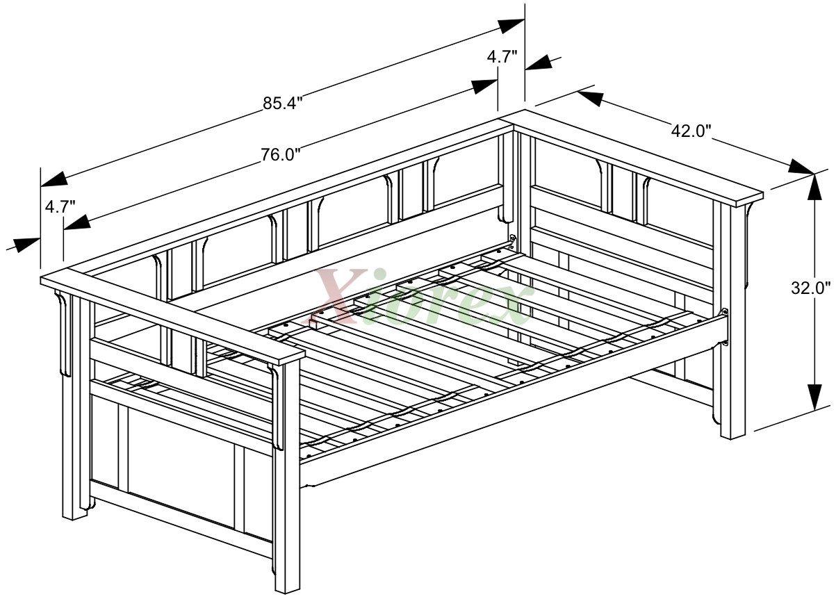 Twin bed size dimensions - Night And Day Teddy Roosevelt Daybed Cherry Dimensions Xiorex