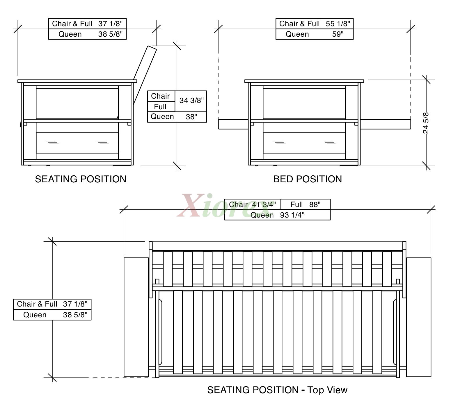 nightandday night xiorex day dimensions futon bookcase bookcases arms and with arm princeton
