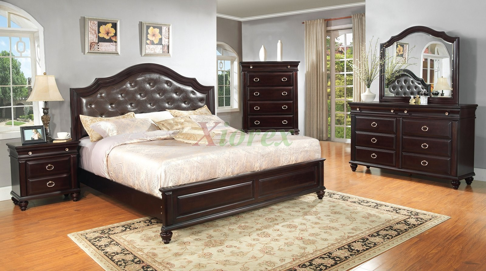 Captivating Platform Bedroom Furniture Set With Leather Headboard 146 | Xiorex