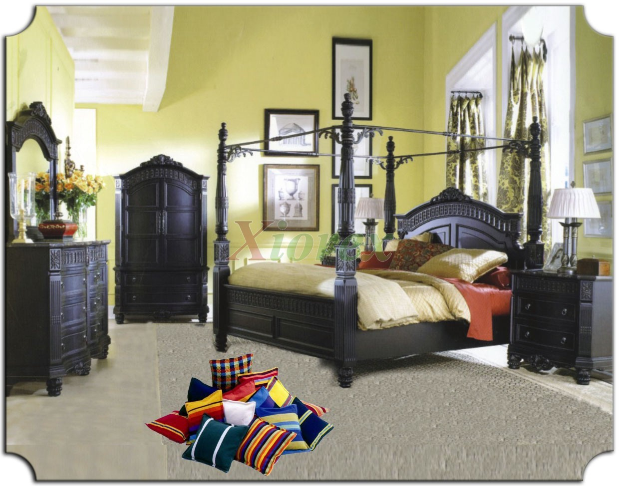 poster bedroom furniture set with metal canopy 102 xiorex not