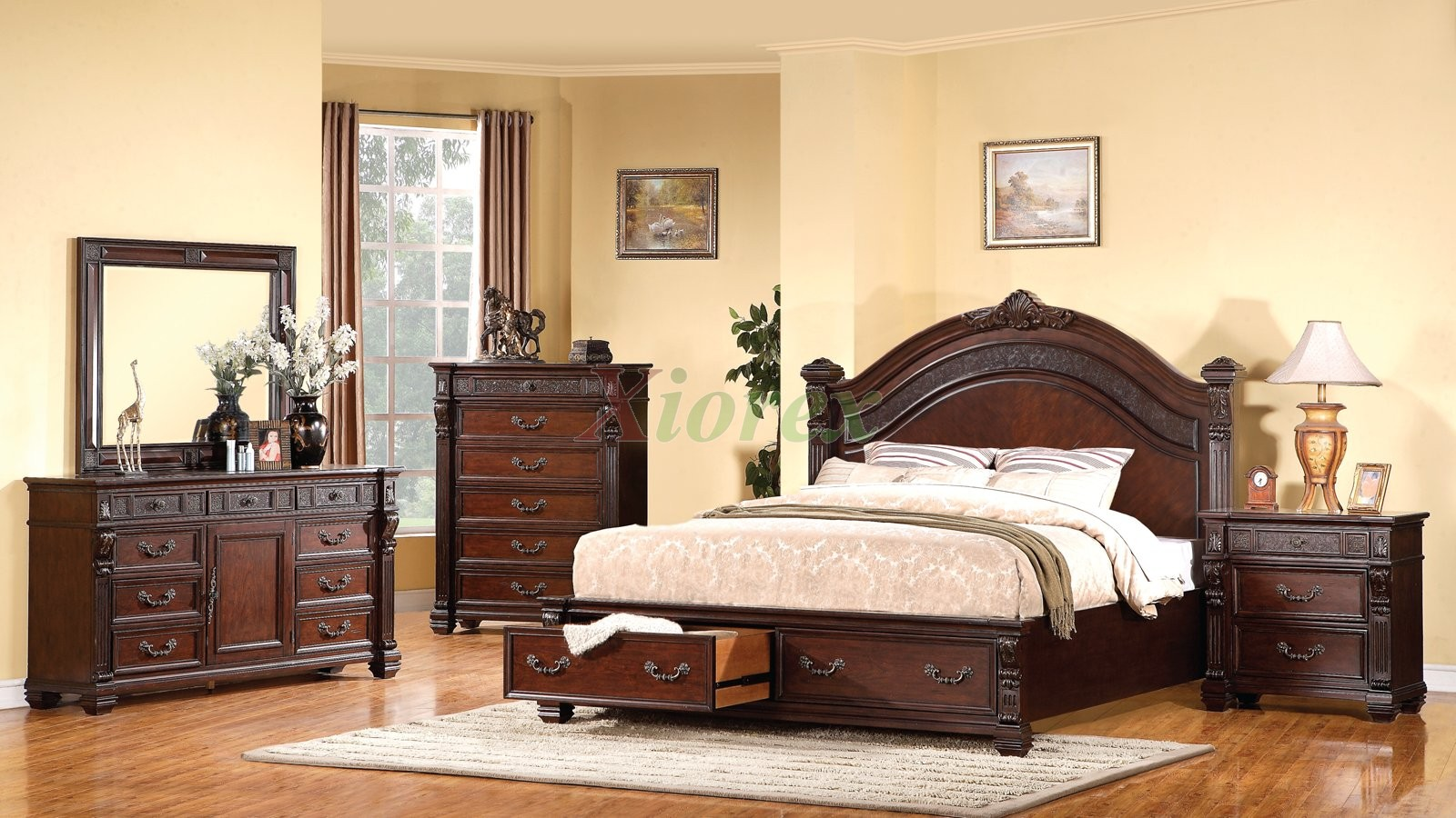 Bedroom furniture storage - Poster Headboard Storage Bedroom Furniture Set 140 Xiorex Not Available In The Us