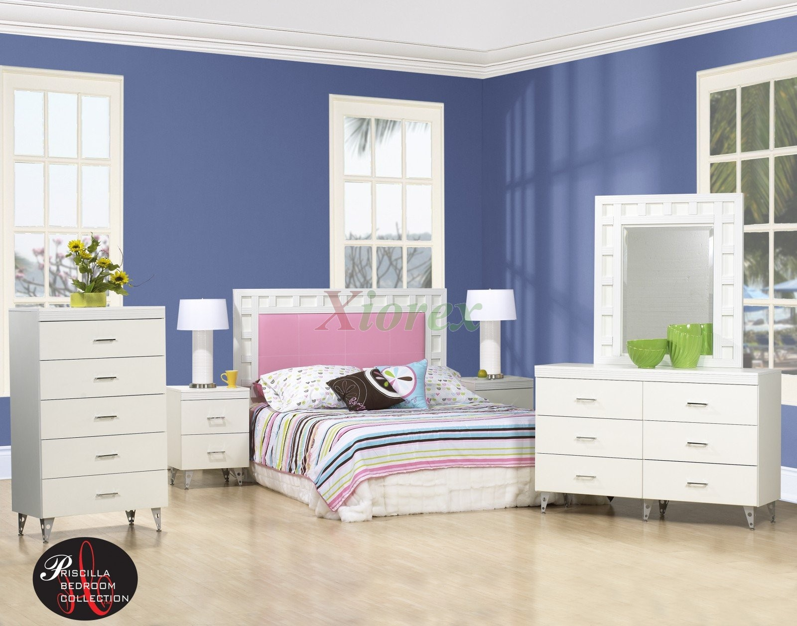 Life Line Priscilla Headboad Bedroom Collection In White