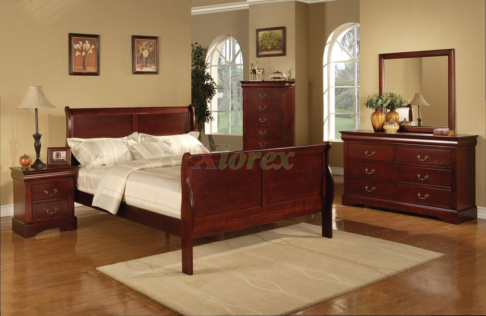 Bedroom Sets Cherry Wood cherry bedroom set philippe cherry sleigh bedroom set 200431 bed